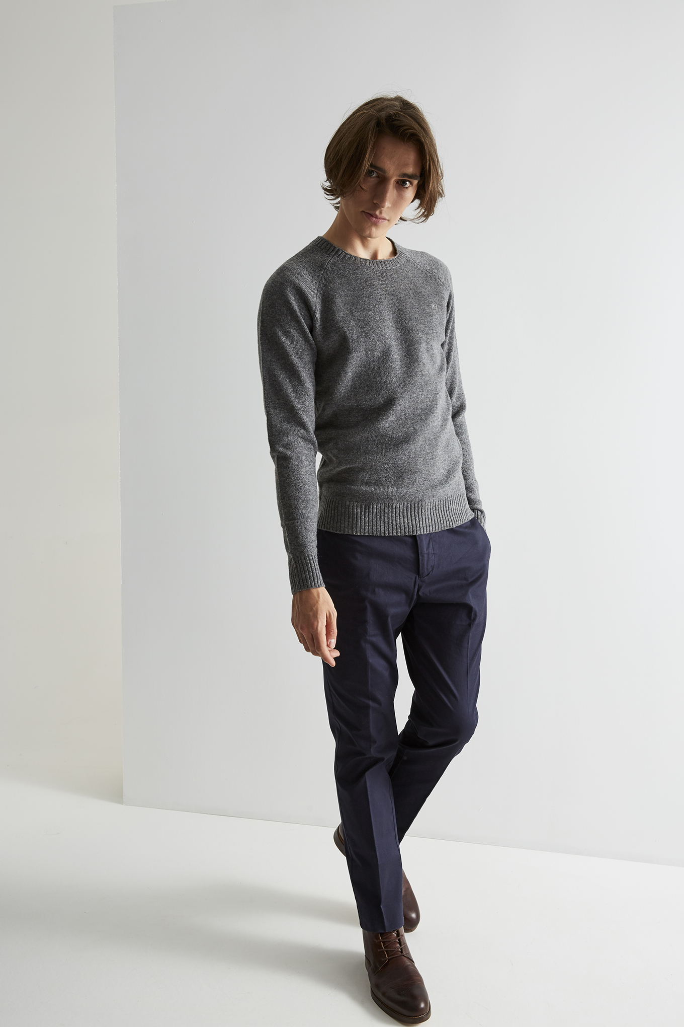 Sweater Mix Grey Classic Man