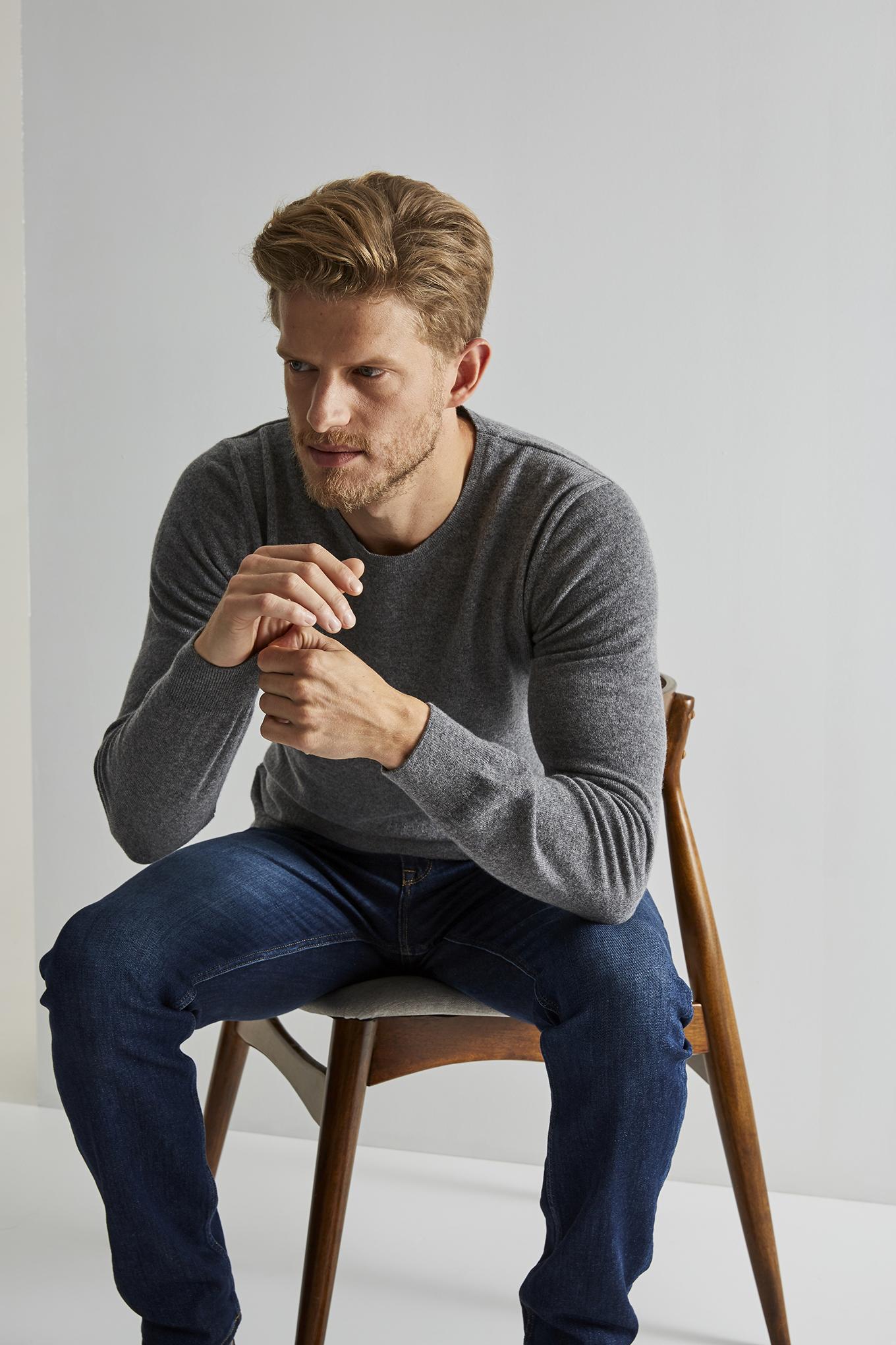 Sweater Mix Grey Sport Man