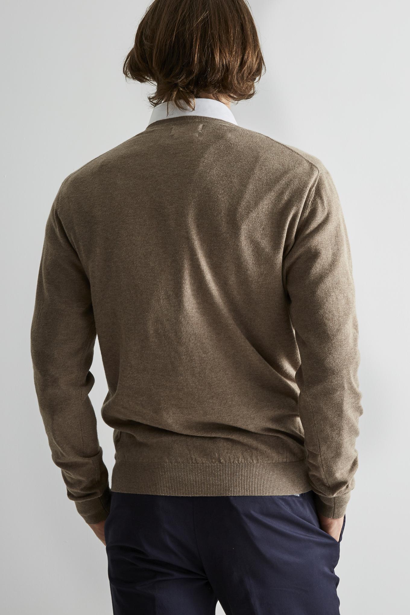 Sweater Beige Sport Man