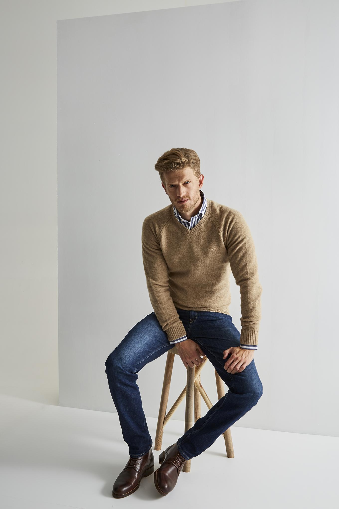 Sweater Camel Casual Man