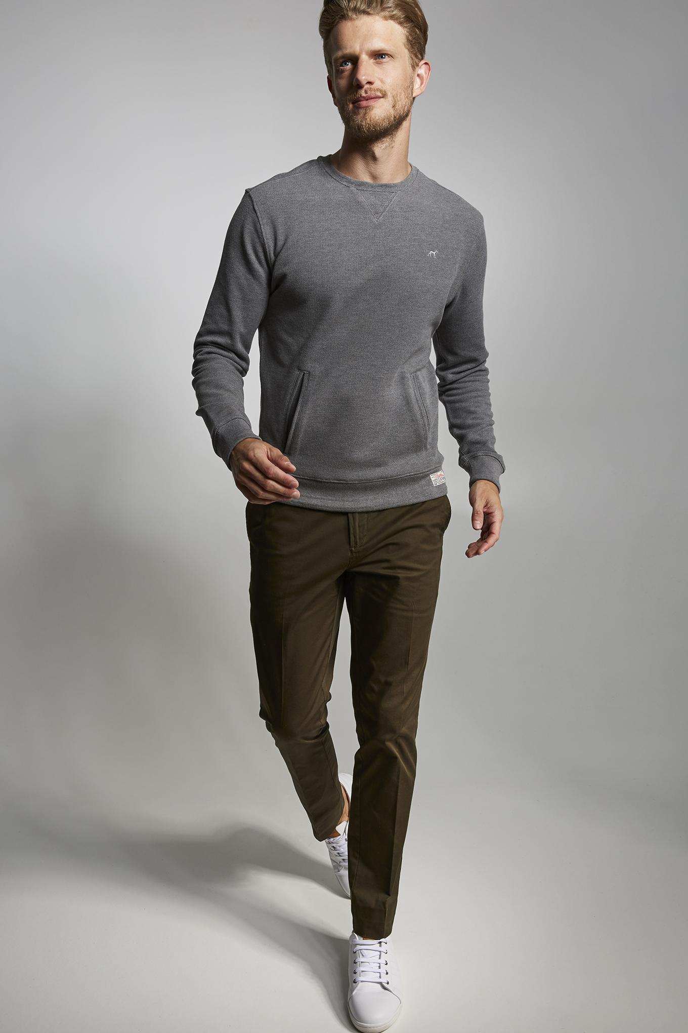 Sweatshirt Dark Grey Sport Man