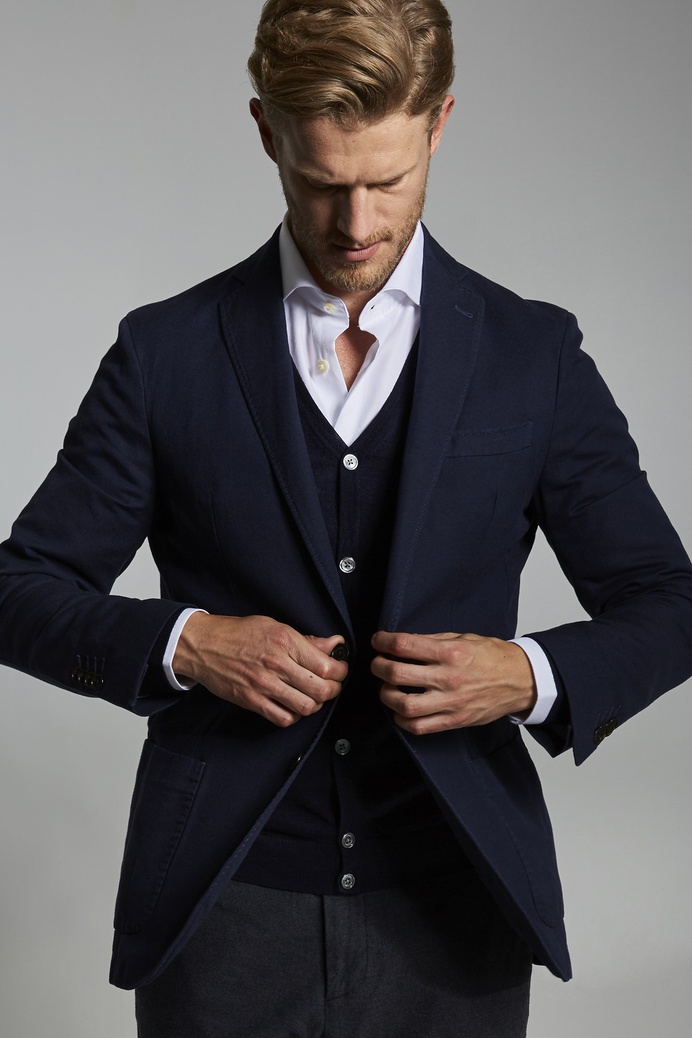 Blazer Azul Escuro Classic Homem
