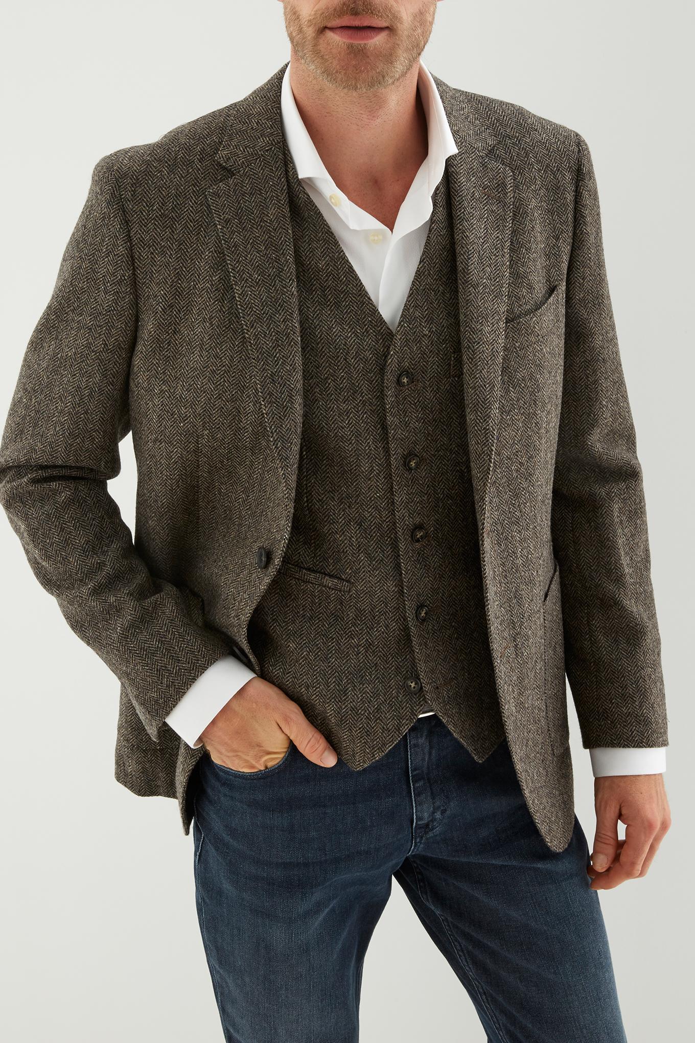 Waist Coat Brown Classic Man