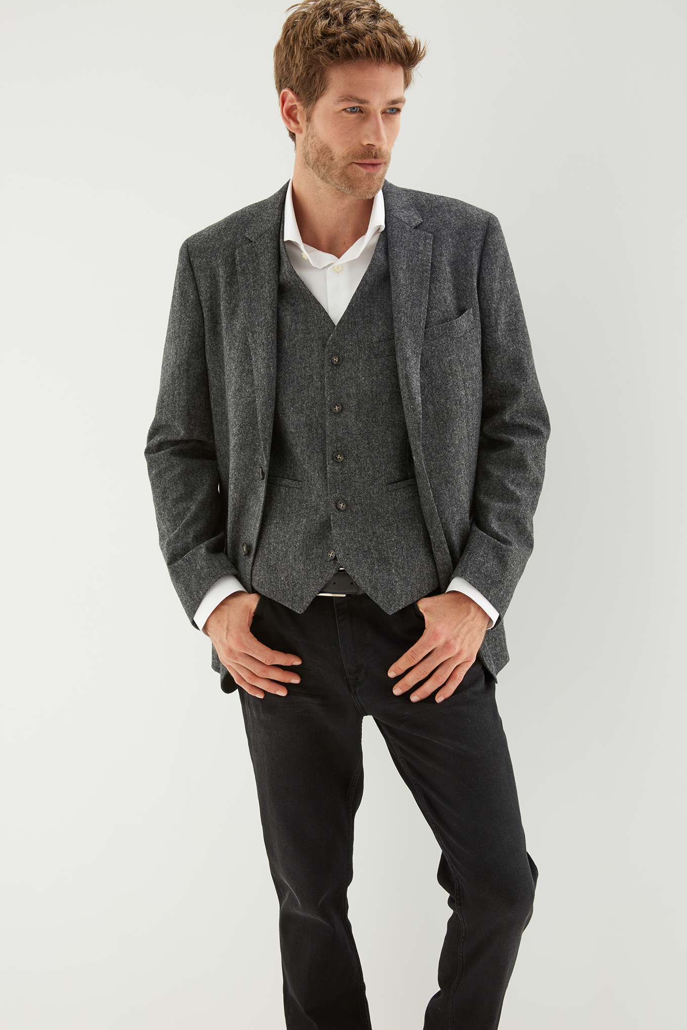 Waist Coat Dark Grey Classic Man