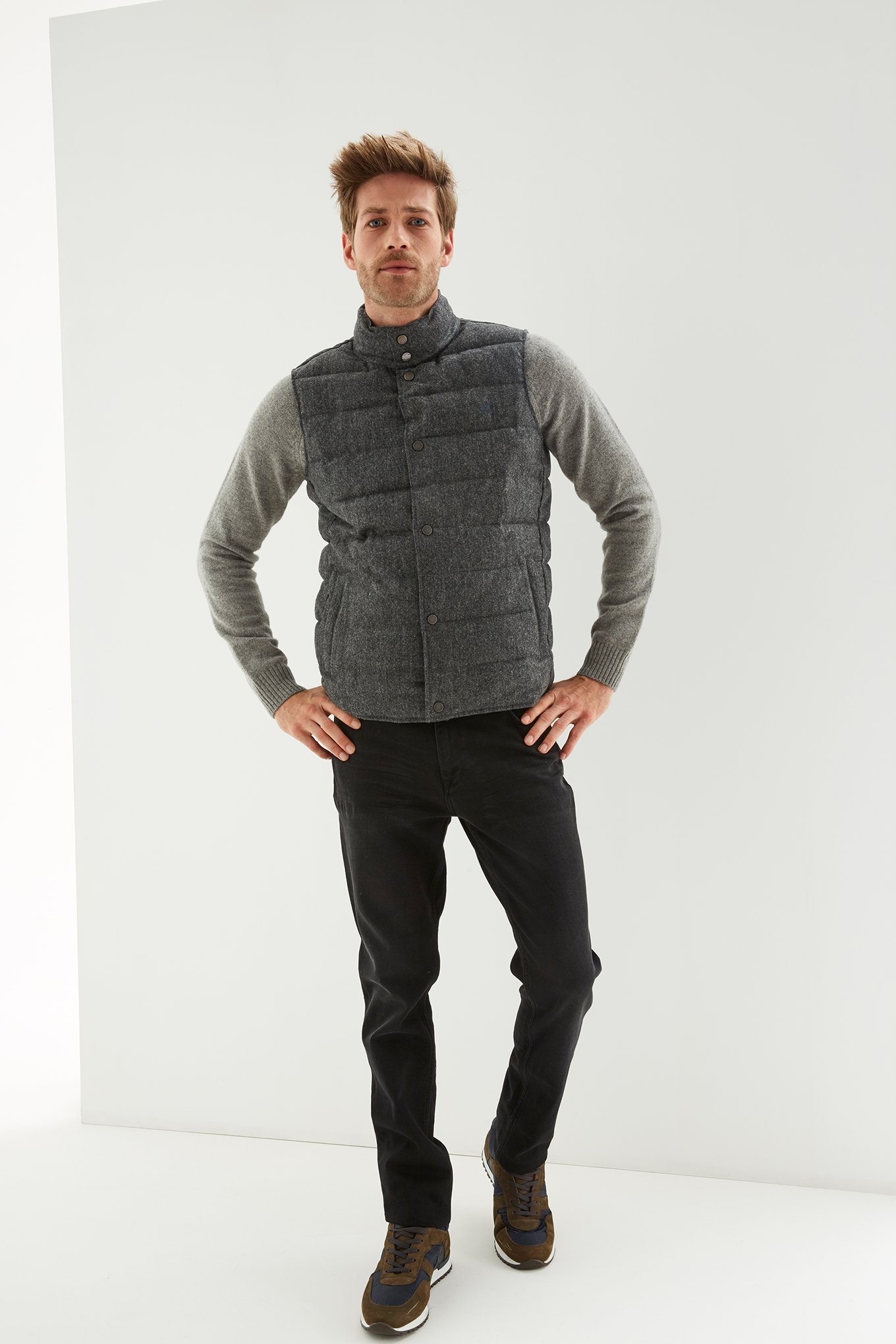 Waist Coat Grey Casual Man