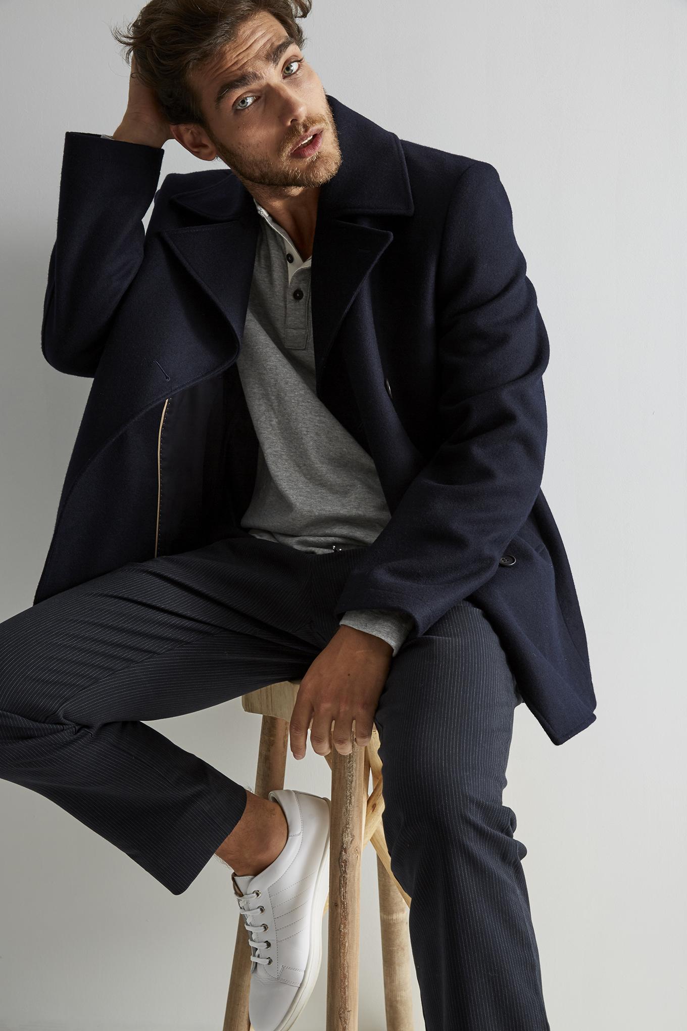 Casaco Azul Escuro Classic Homem