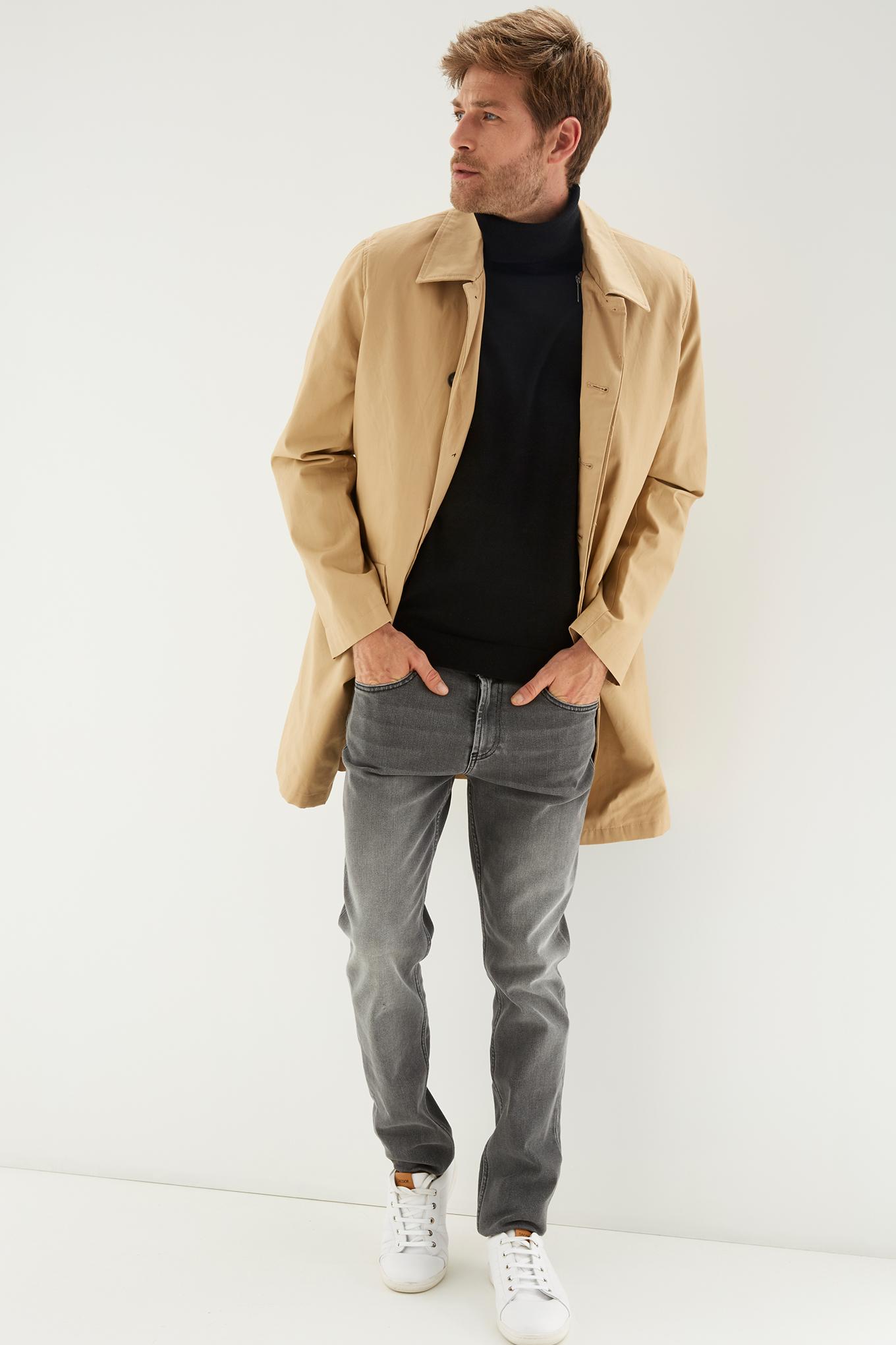 Raincoat Beige Classic Man