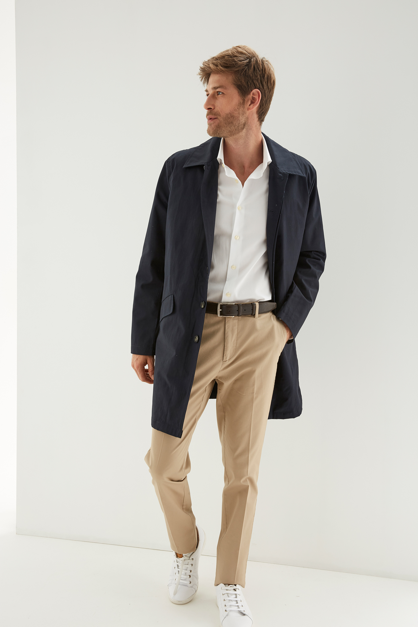 Raincoat Dark Blue Classic Man