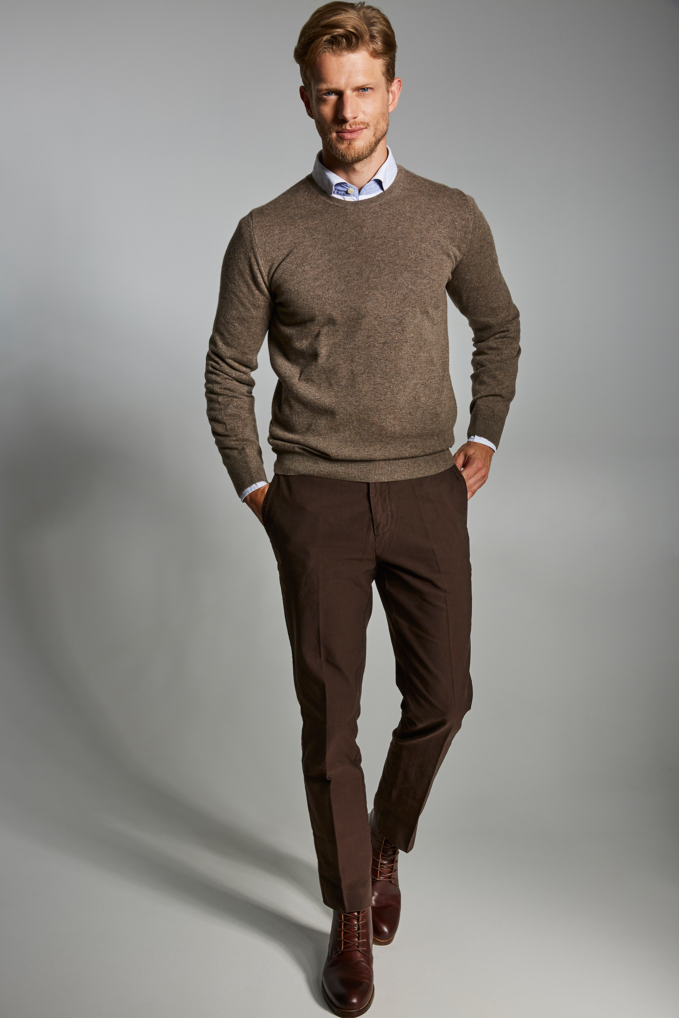 Chino Trousers Chocolate Casual Man
