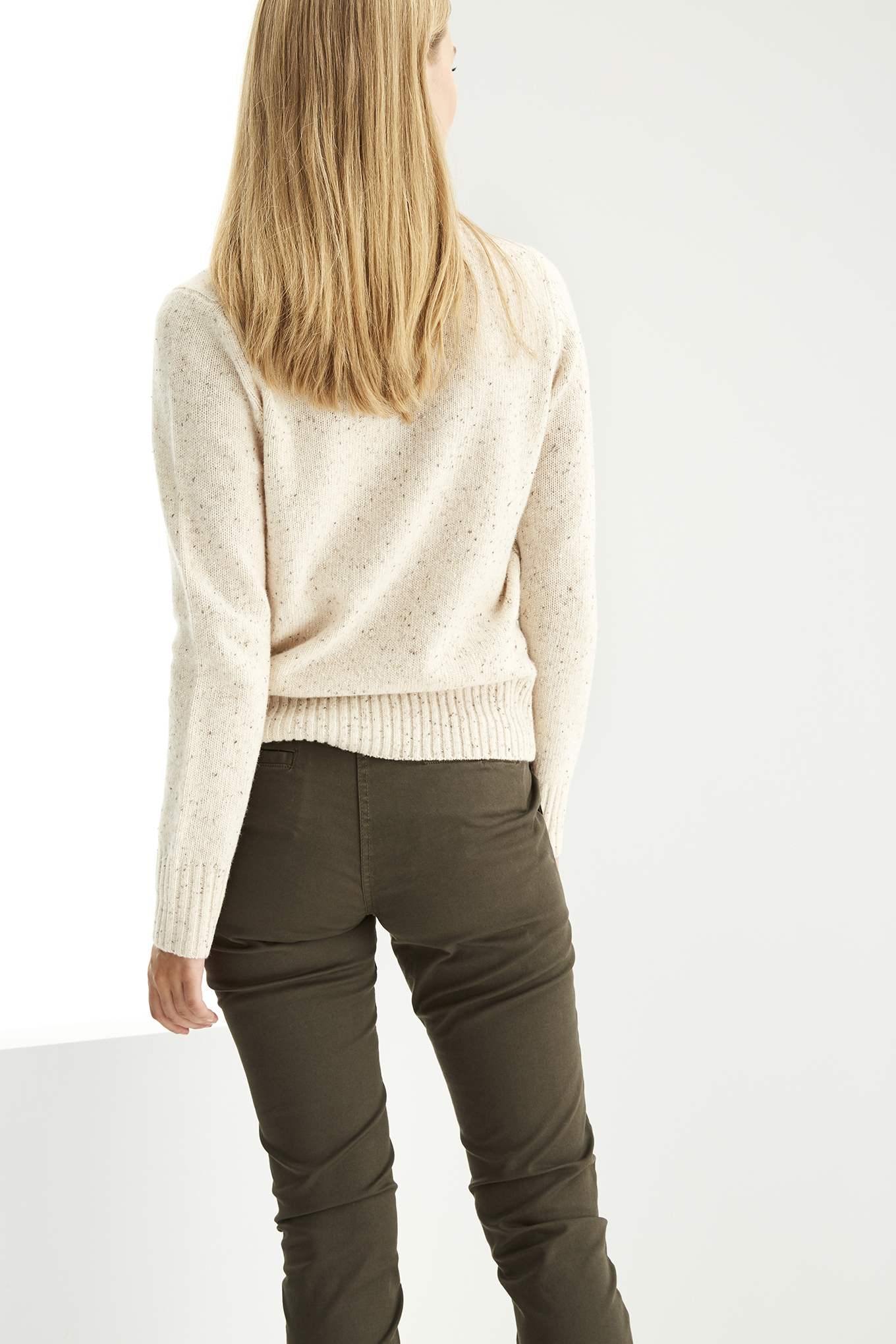 Sweater Beige Casual Woman