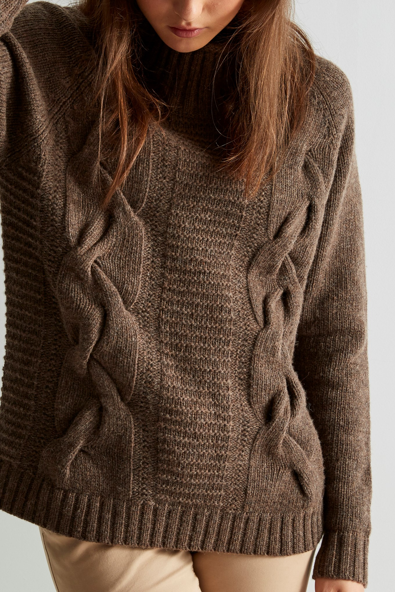 https://static.sacoorbrothers.comSweater Dark Beige Casual Woman