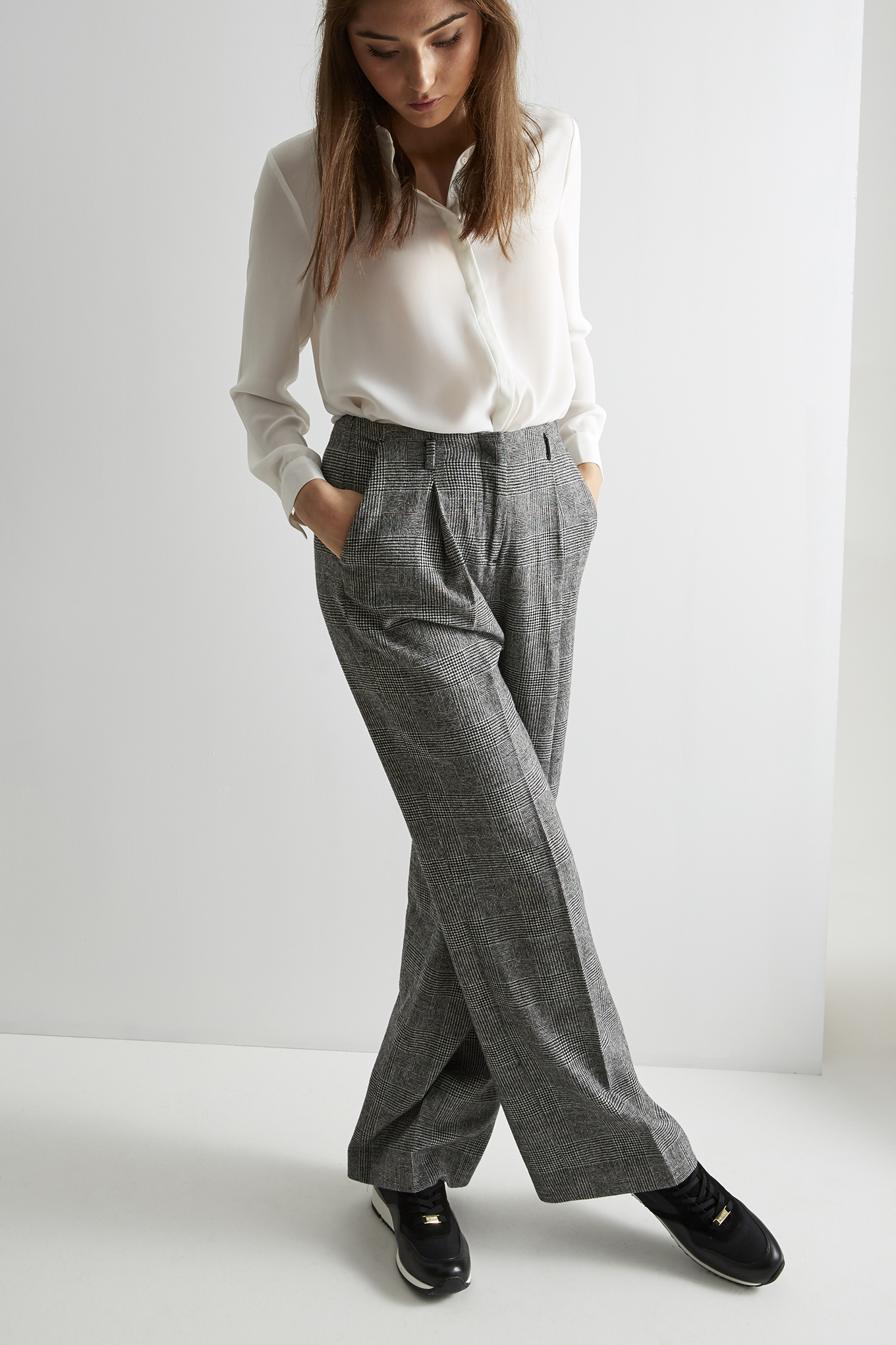 Trousers Black Classic Woman