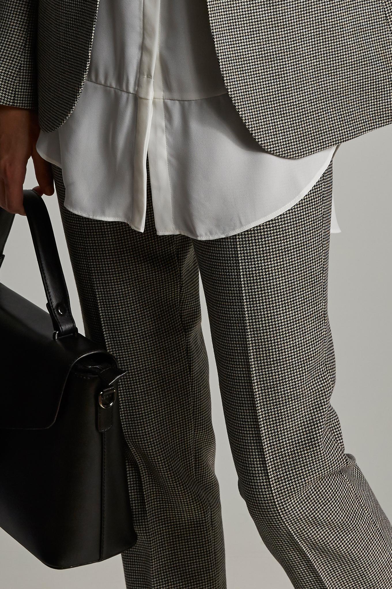 Trousers Checks Classic Woman