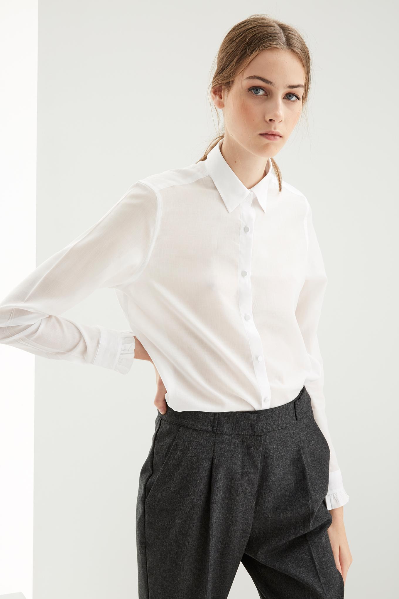 Camisa Branco Classic Mulher