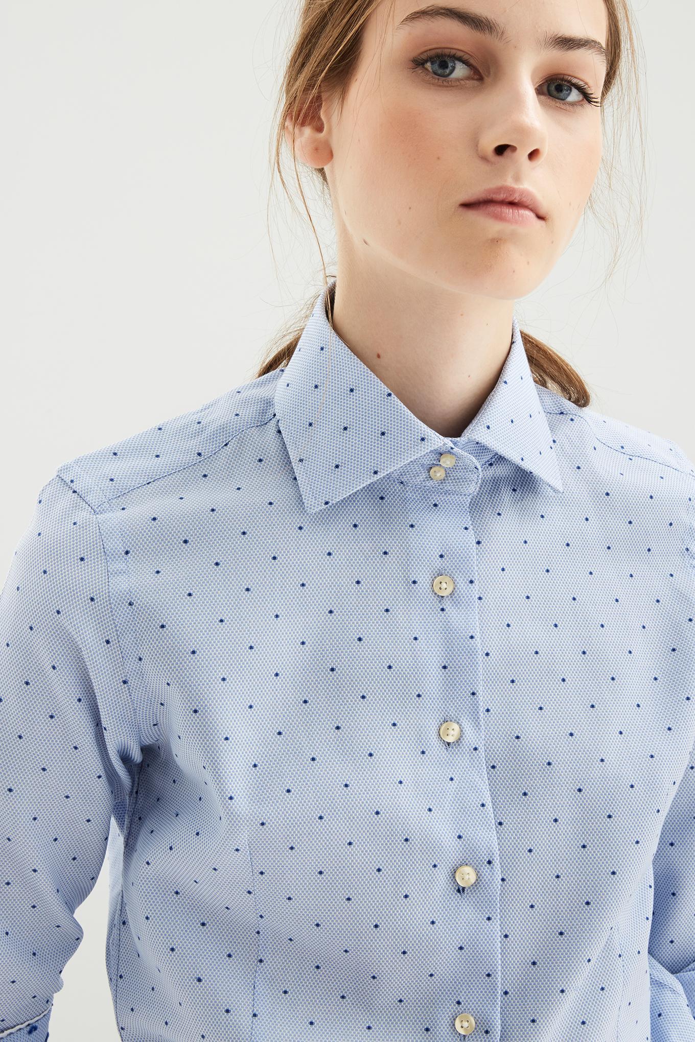 Camisa Azul Classic Mulher