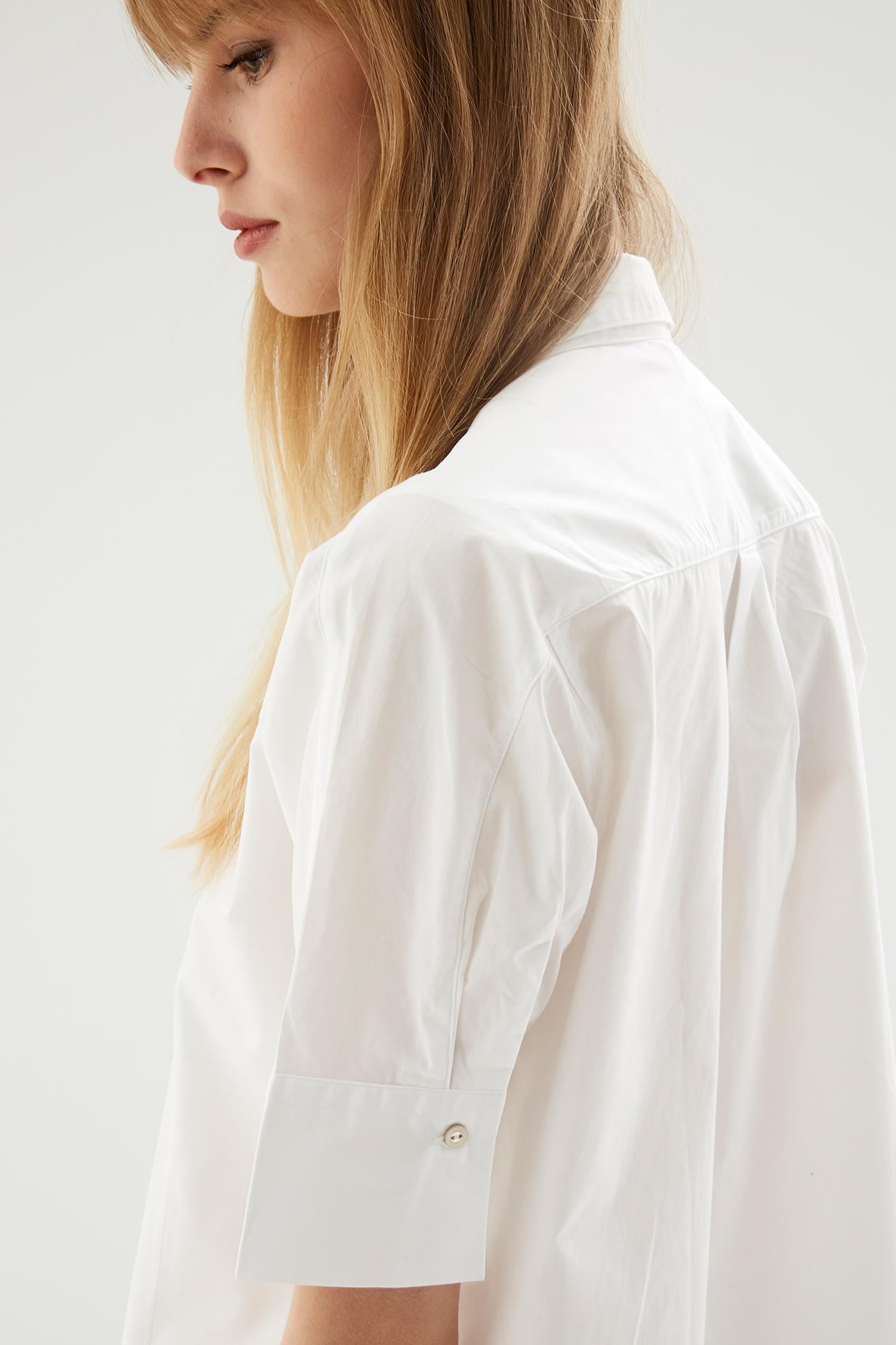 Camisa Branco Casual Mulher