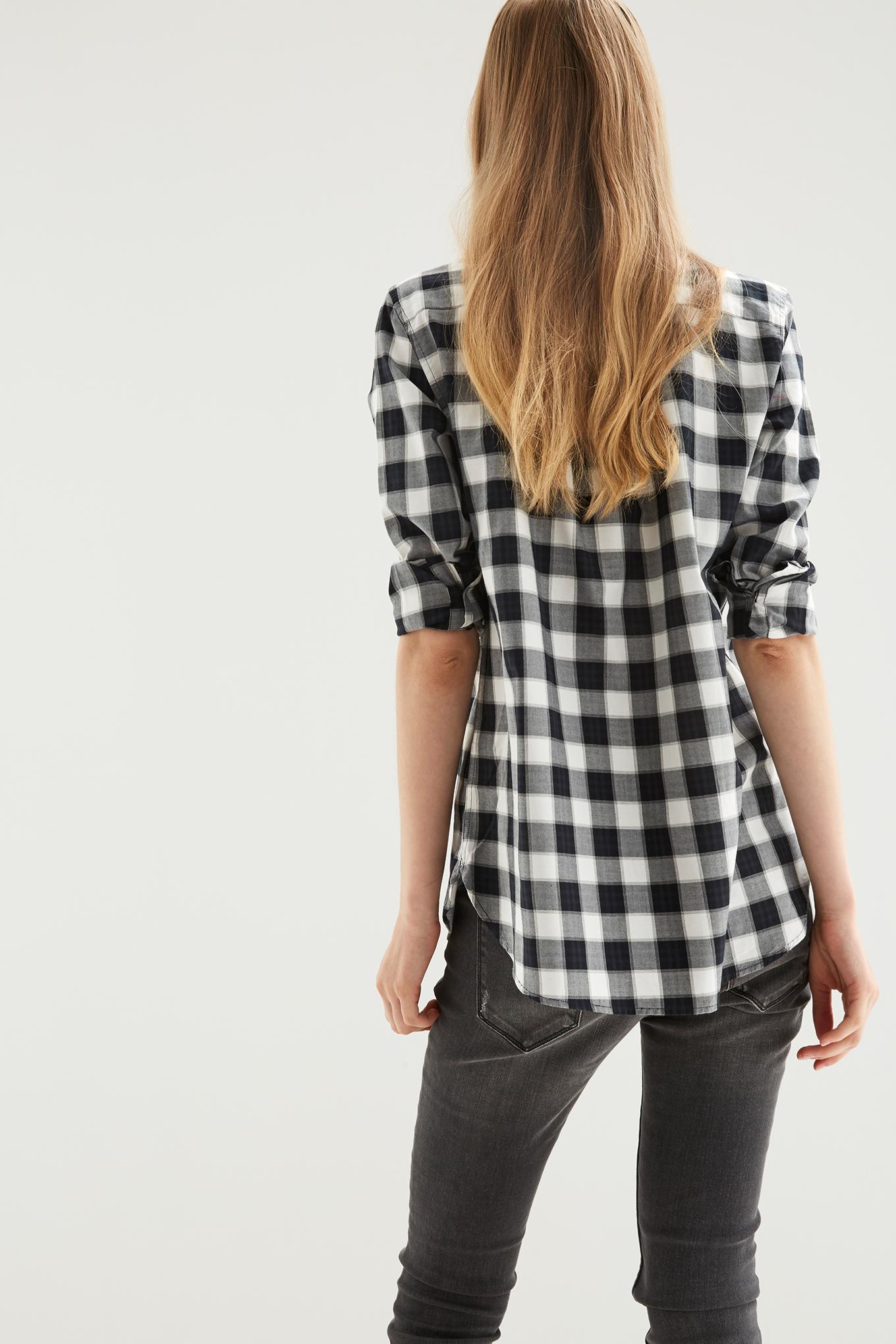 Shirt Checks Casual Woman