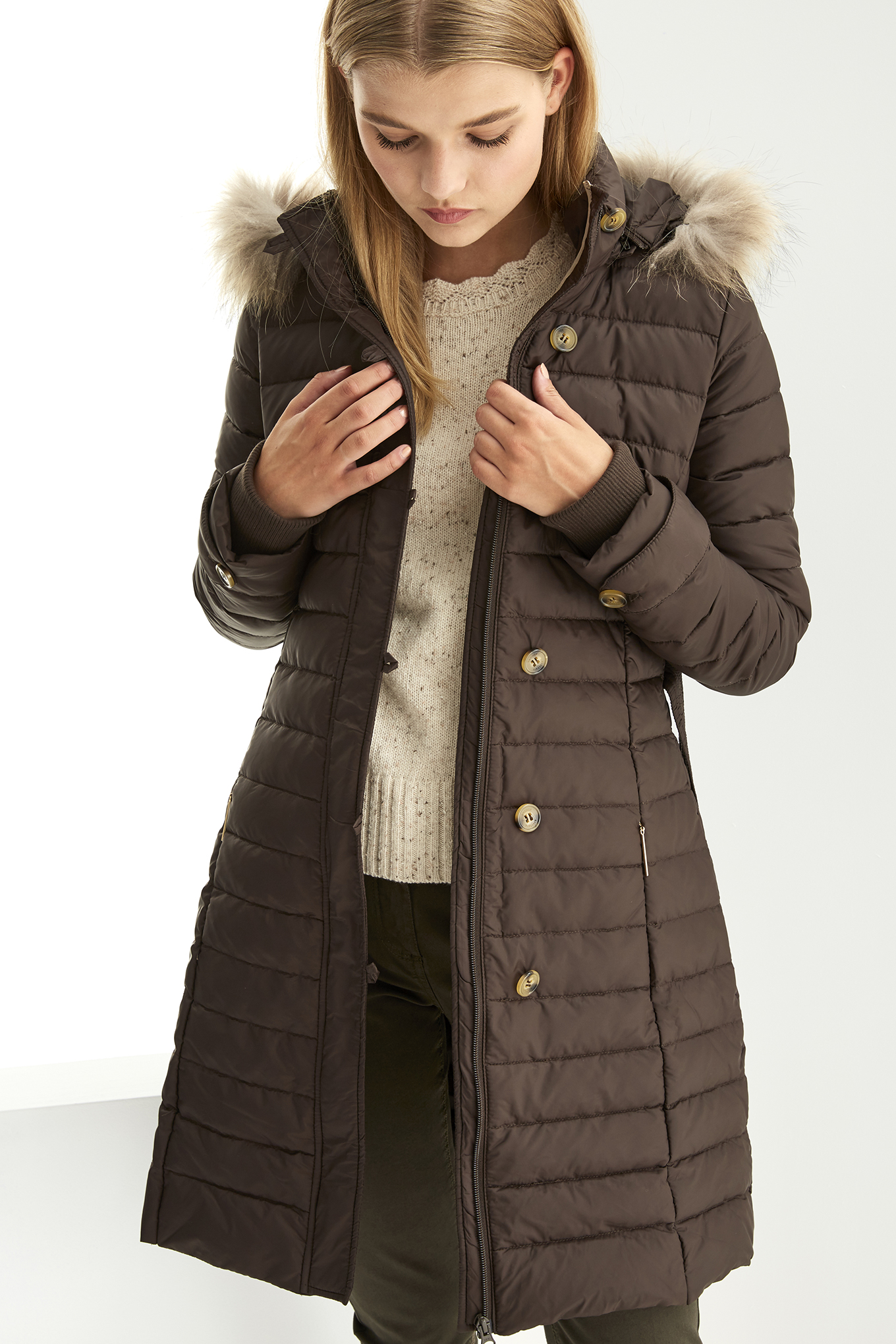 Jacket Chocolate Casual Woman