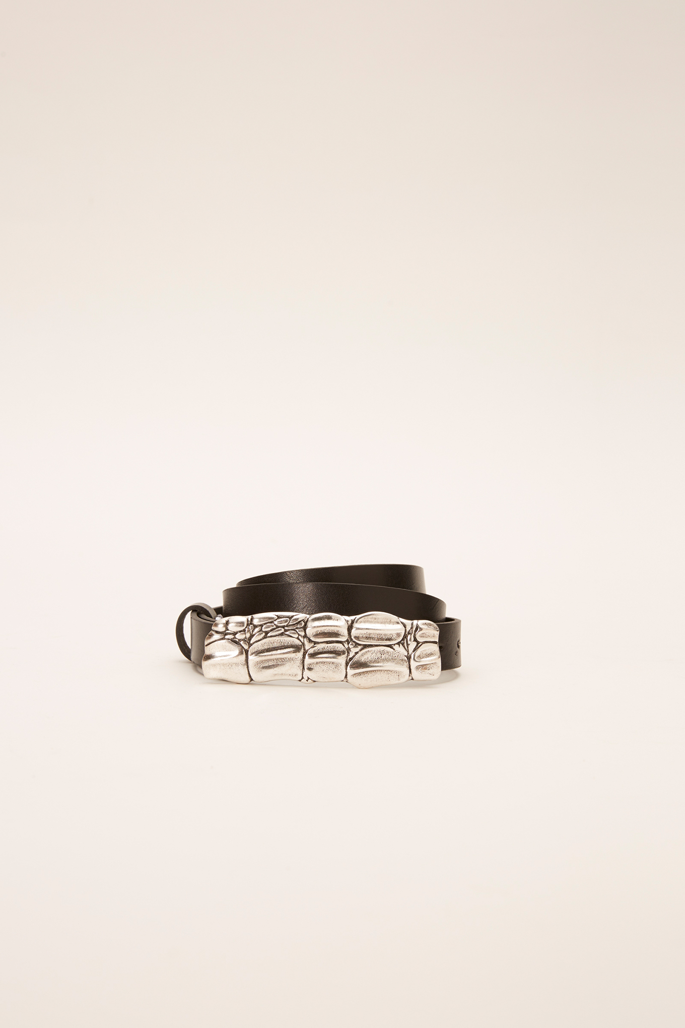Belt Black Casual Woman