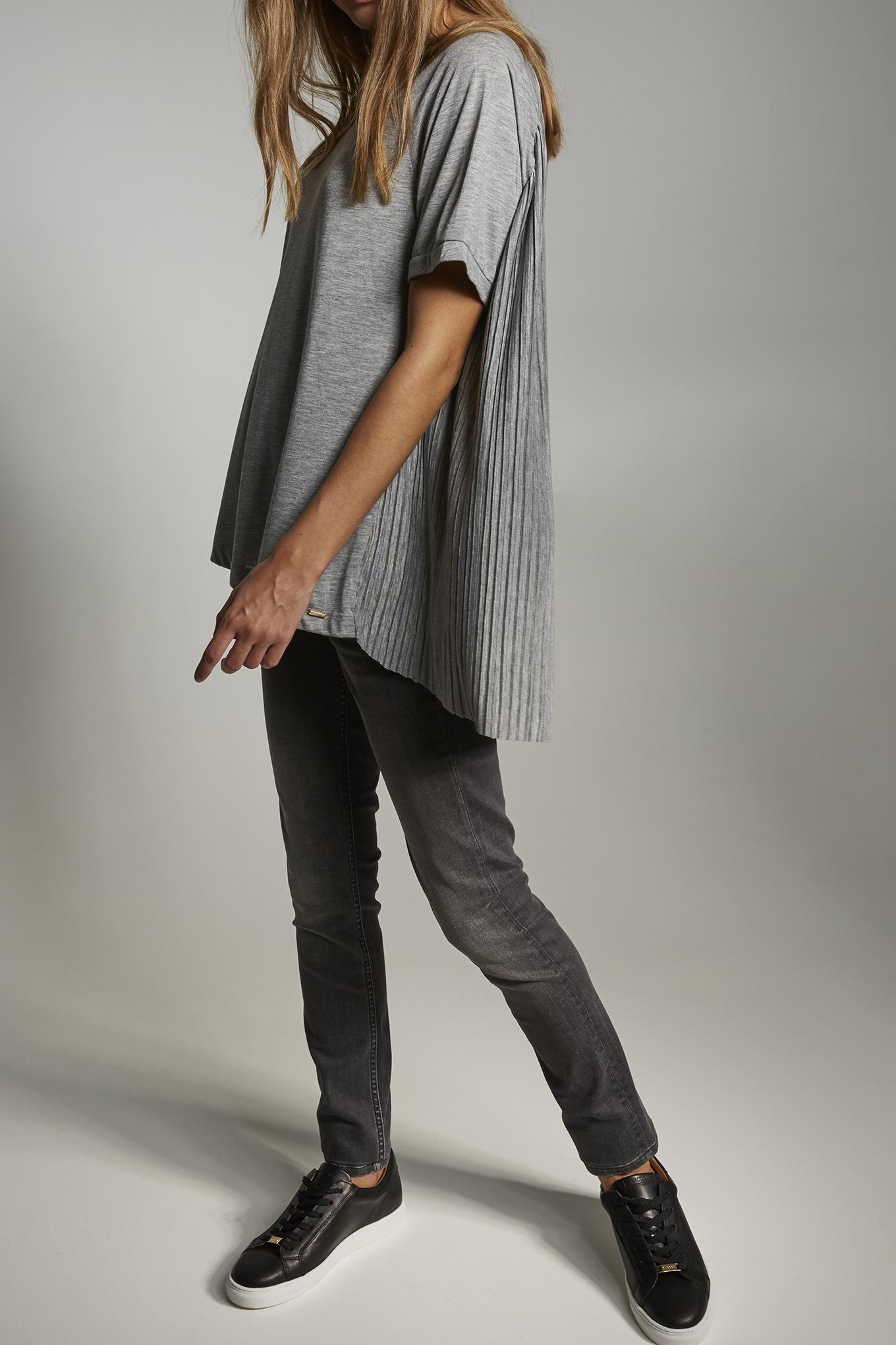 T-Shirt Mix Grey Casual Woman