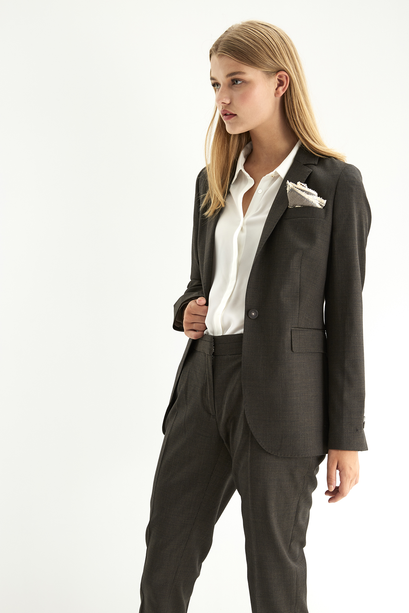 Suit Brown Classic Woman