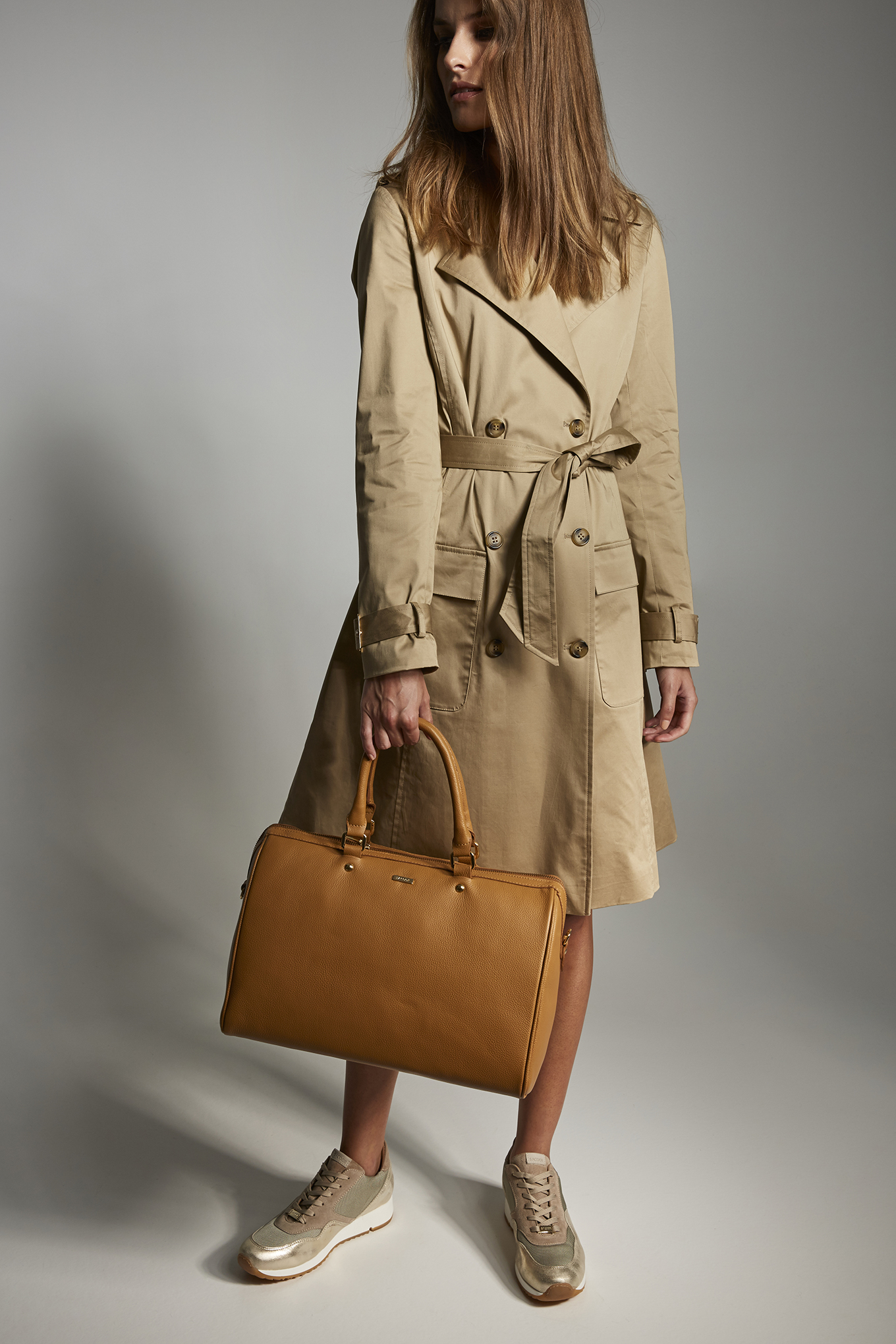 Raincoat Camel Casual Woman