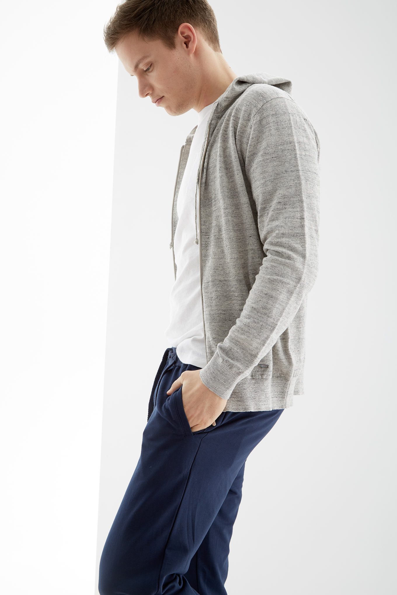 Sweater Mix Grey Casual Man