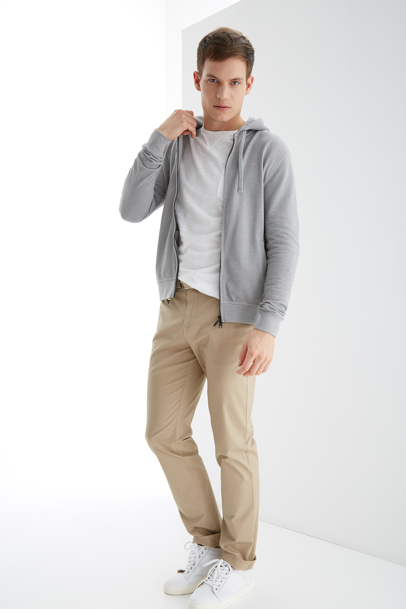 Sweatshirt Mix Grey Sport Man
