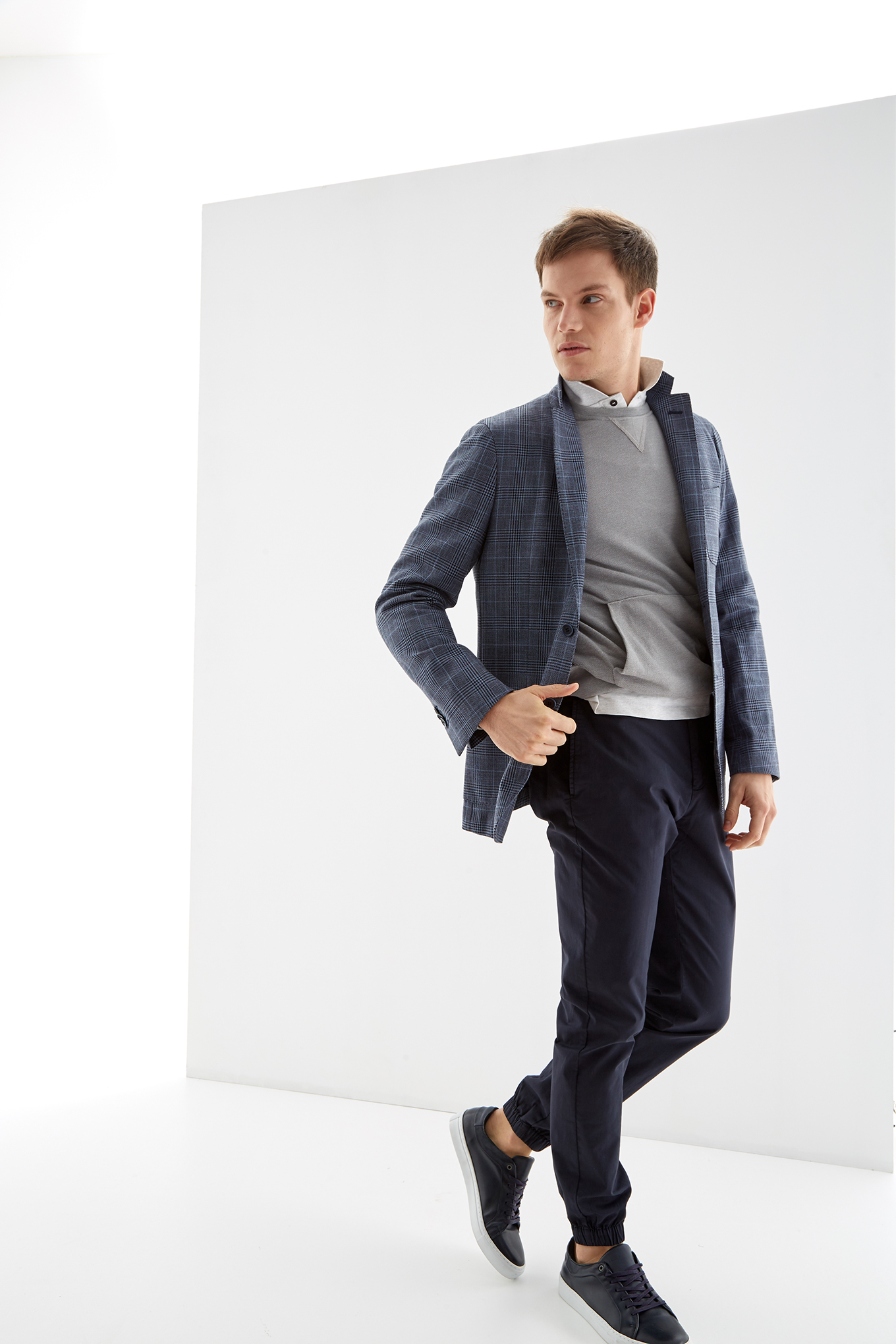 Blazer Medium Blue Classic Man