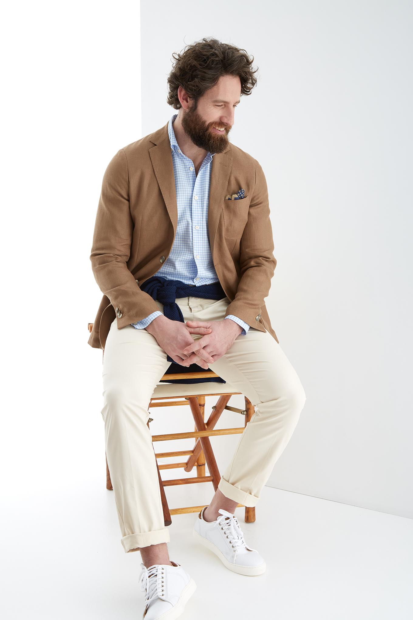 Blazer Camel Classic Homem