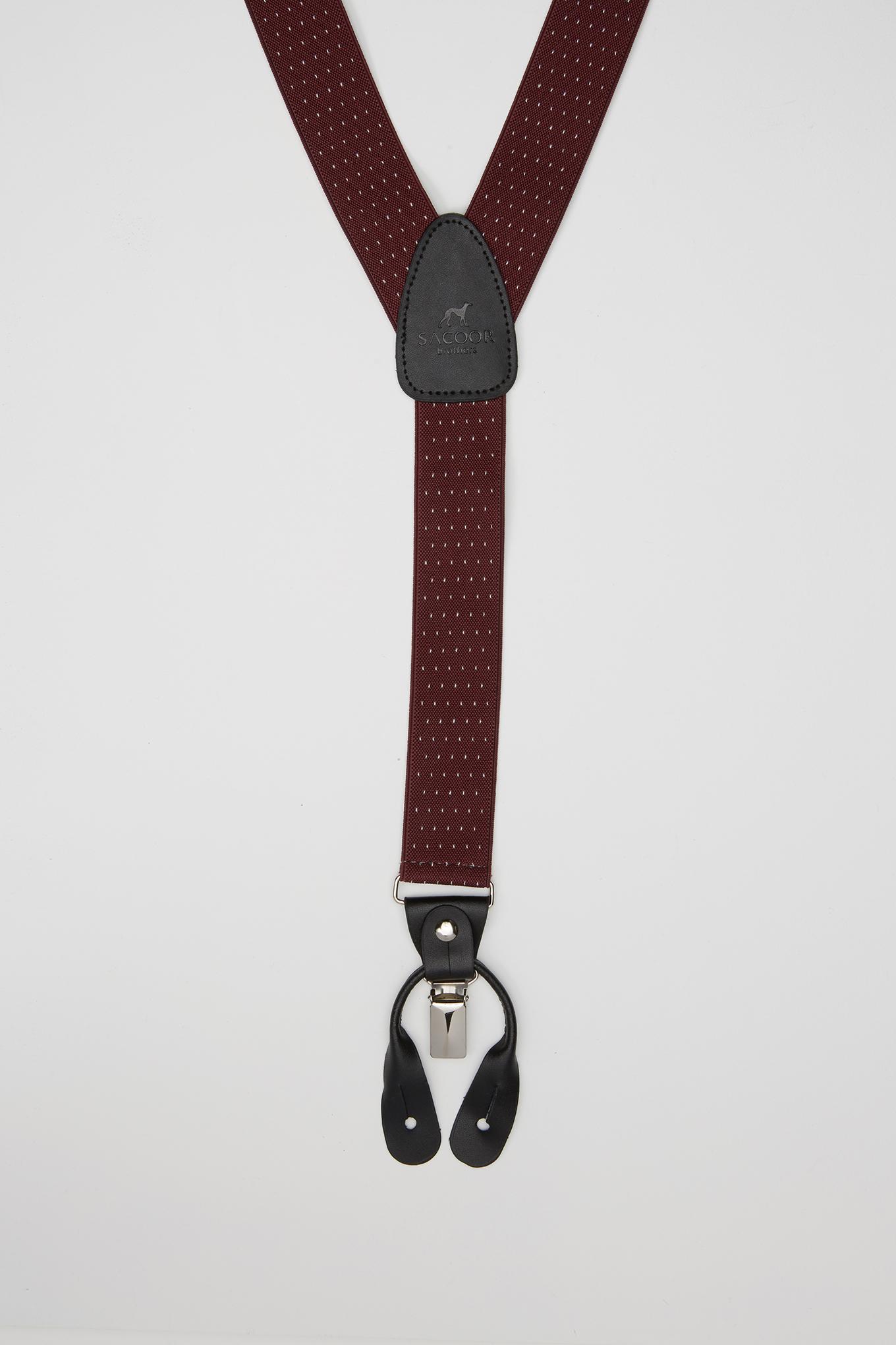 Suspenders Bordeaux Classic Man