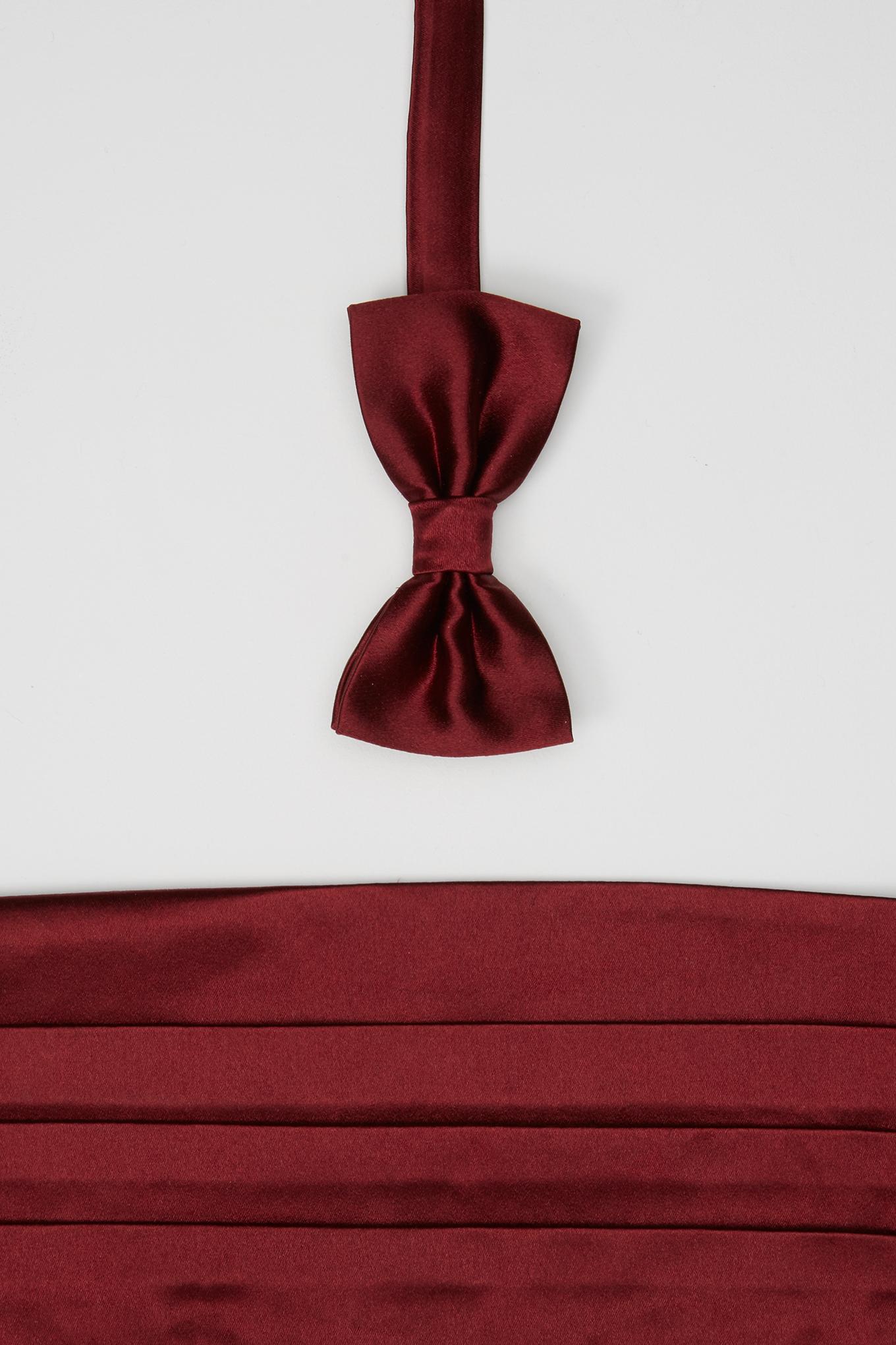 40 Bow Tie & Cummerbund Bordeaux Classic Man