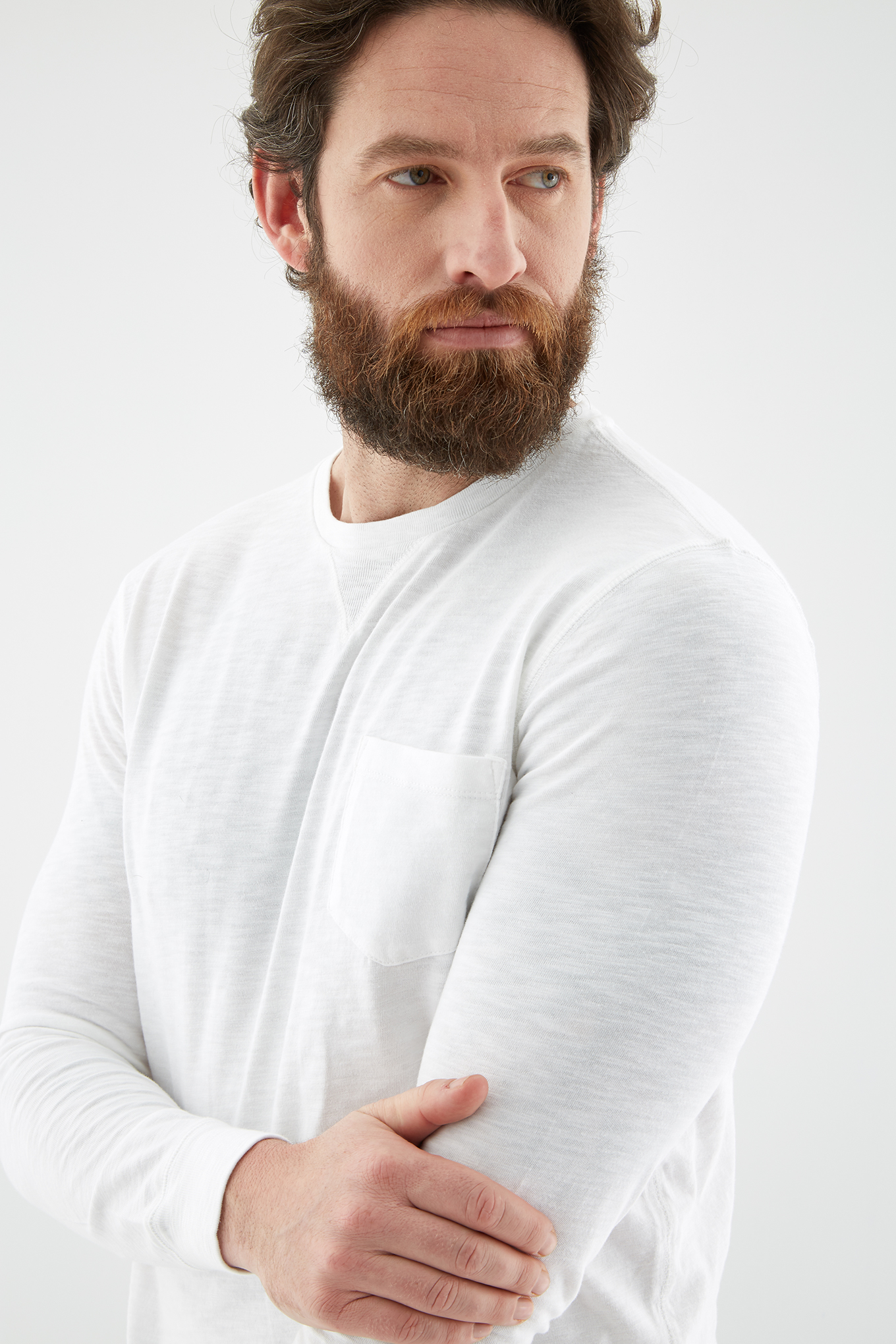 Long Sleeve T-Shirt White Sport Man