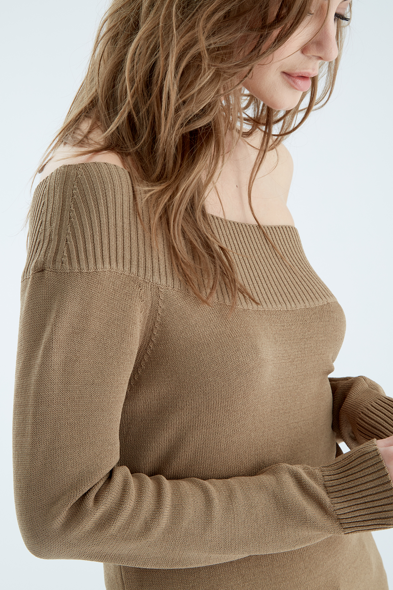 Sweater Dark Beige Casual Woman
