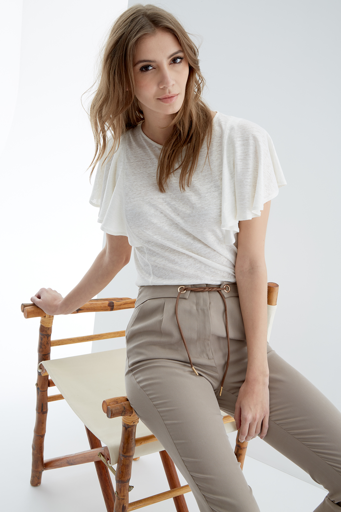 Trousers Dark Beige Fantasy Woman