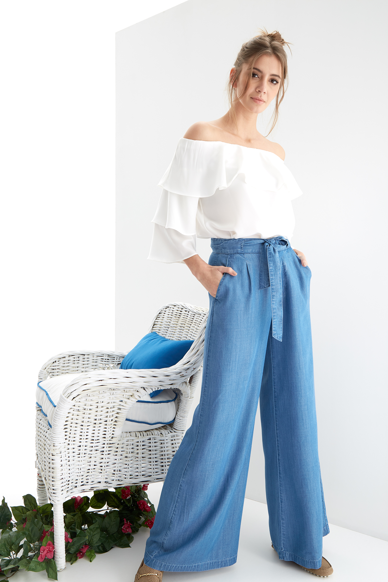 Trousers Medium Blue Fantasy Woman
