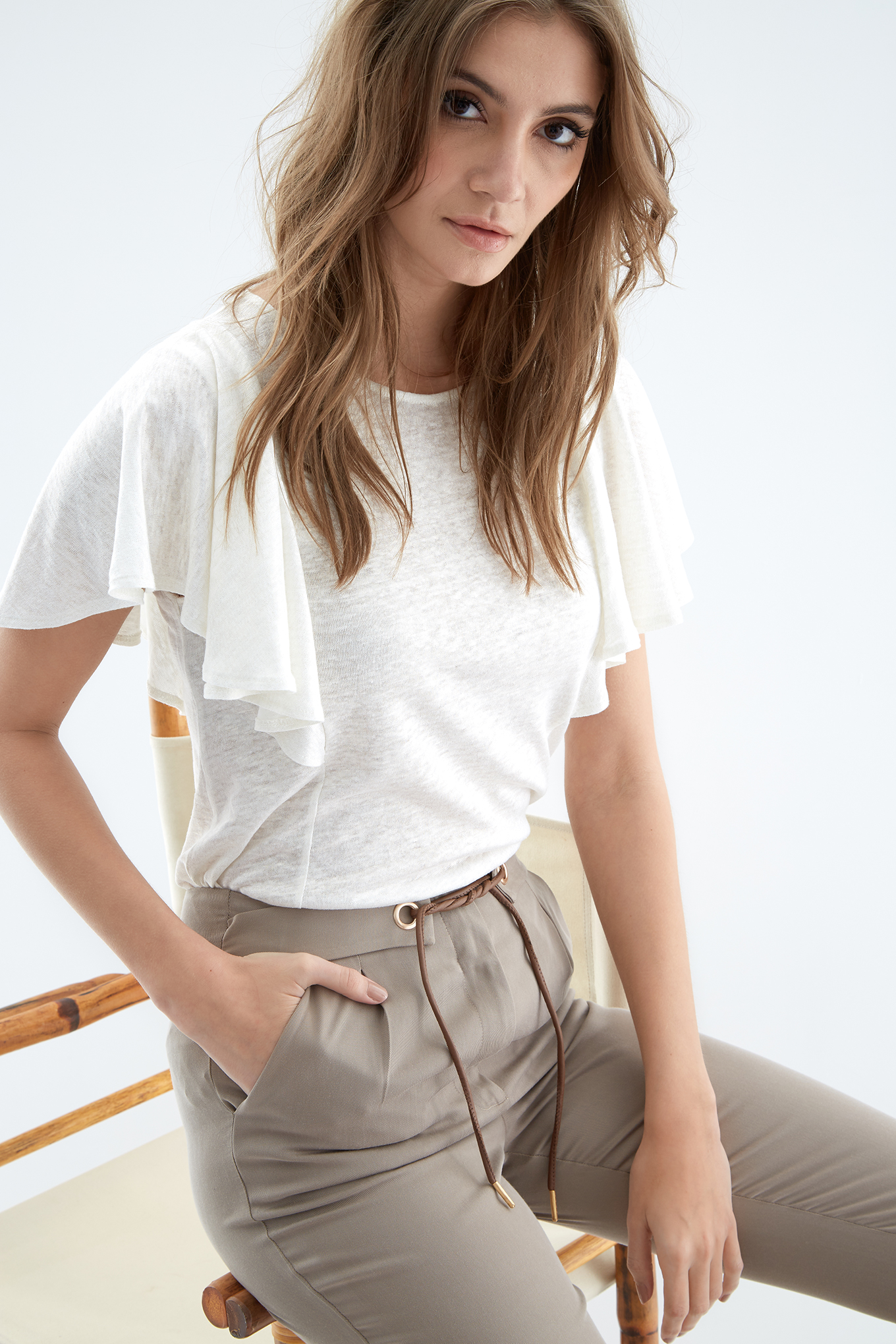 T-Shirt White Casual Woman