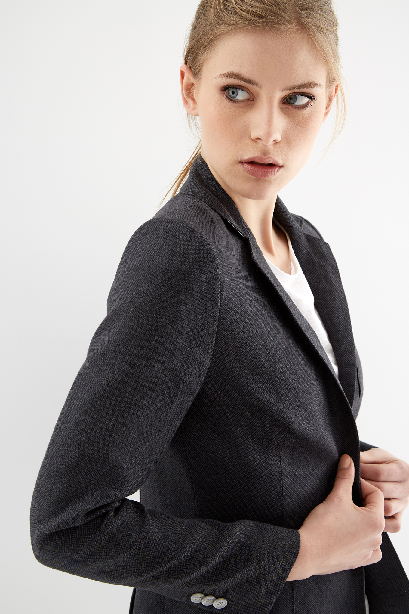 Blazer Dark Grey Classic Woman