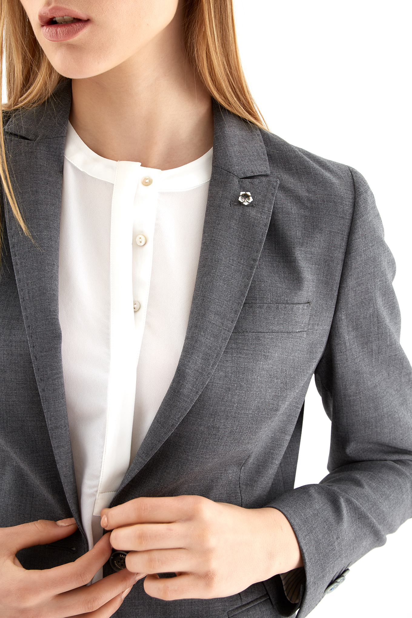 Suit Medium Grey Classic Woman