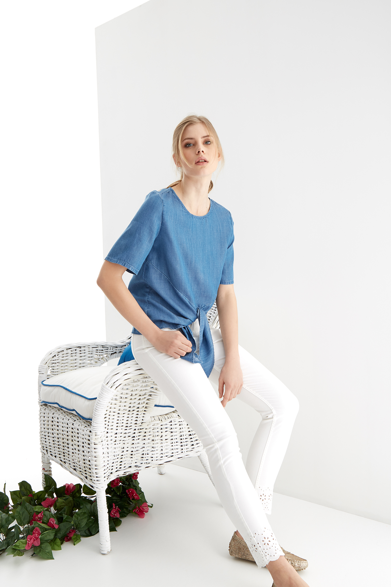 Blouse Medium Blue Fantasy Woman