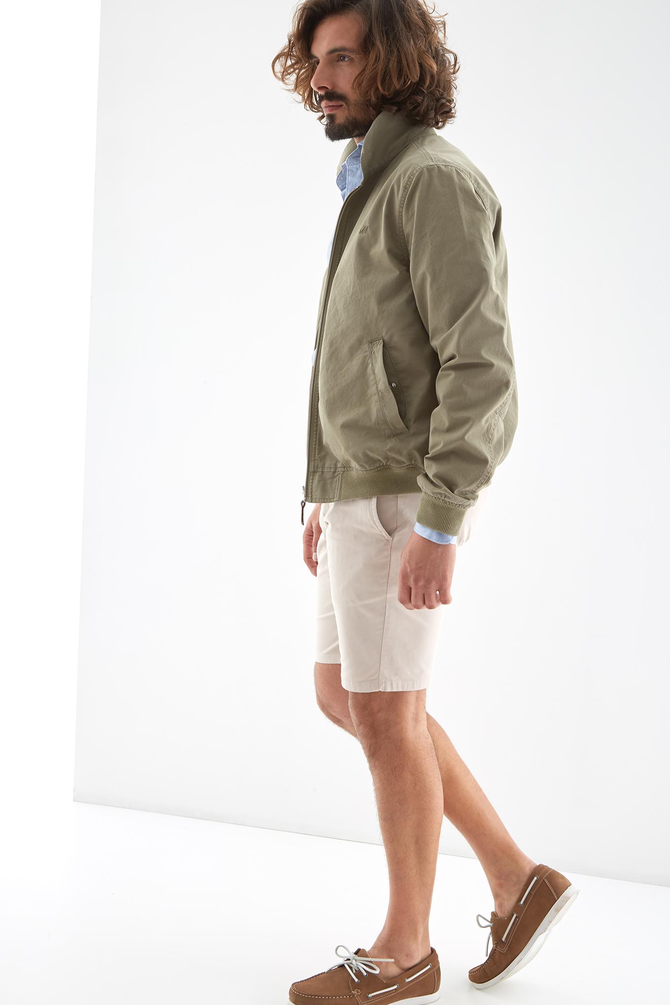 Blusão Verde Casual Homem