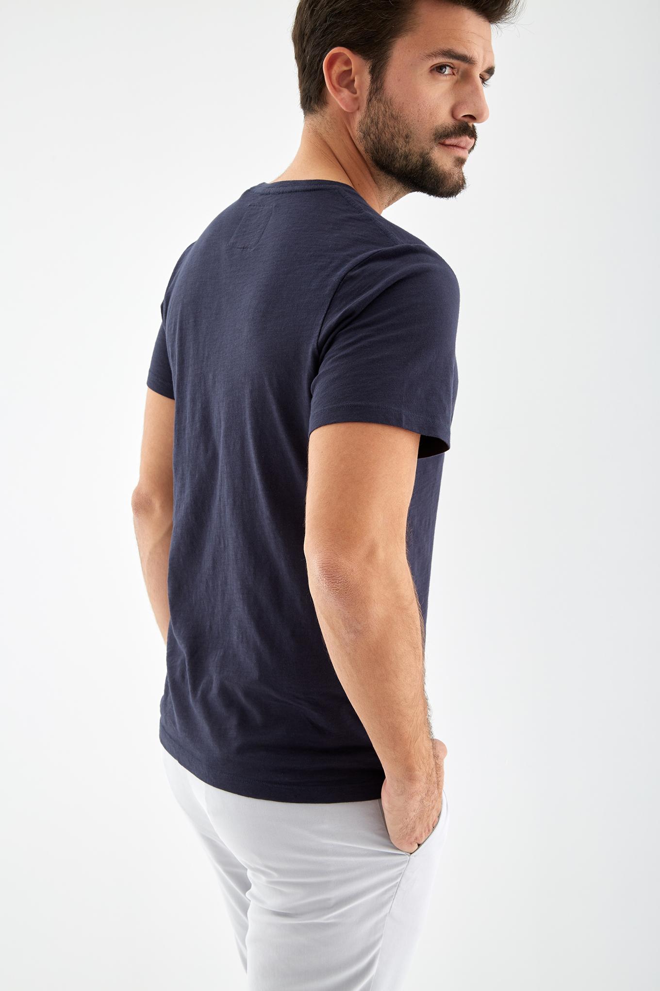 T-Shirt Azul Escuro Sport Homem