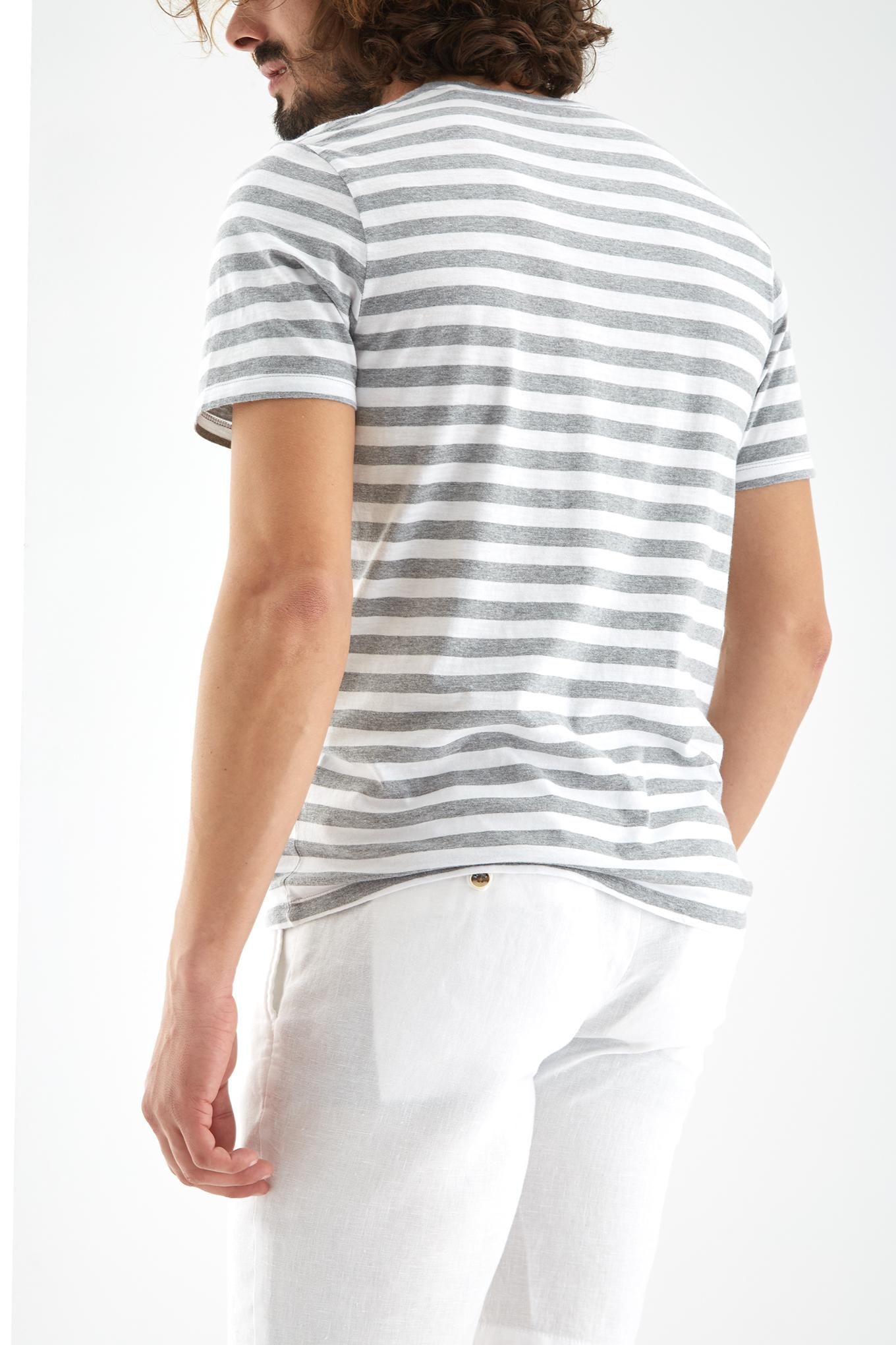T-Shirt Cinza Mesclado Sport Homem