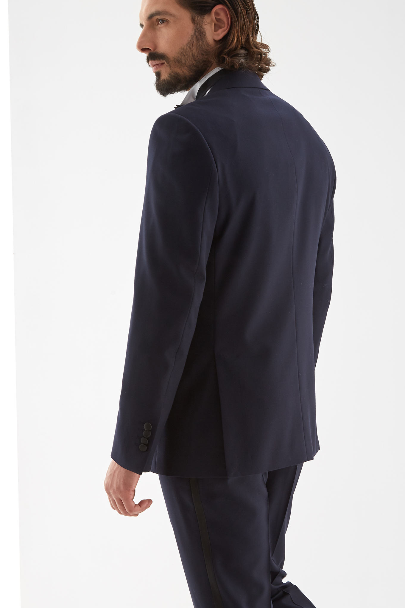 Tuxedo Azul Escuro Classic Homem