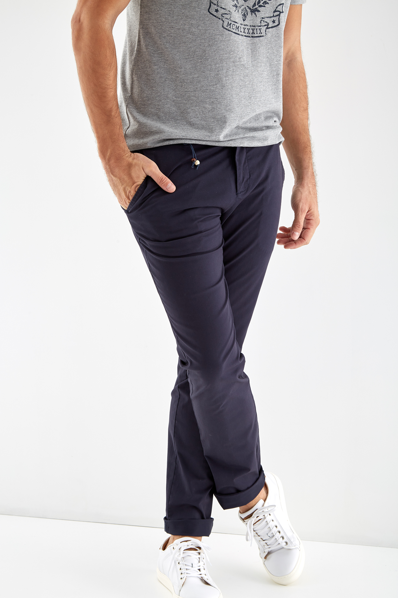 Calças Chino Azul Escuro Sport Homem