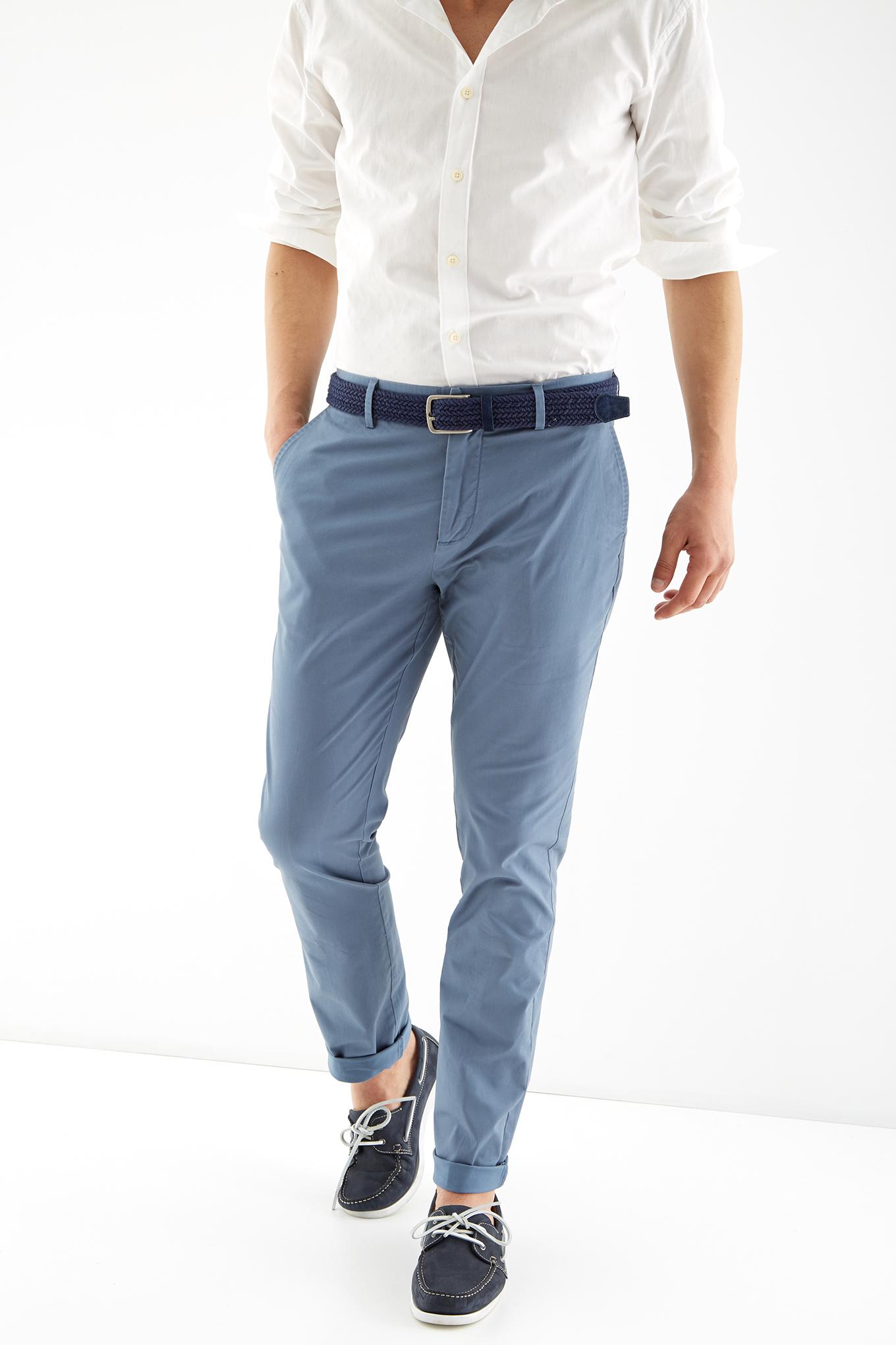Chino Trousers Blue Sport Man