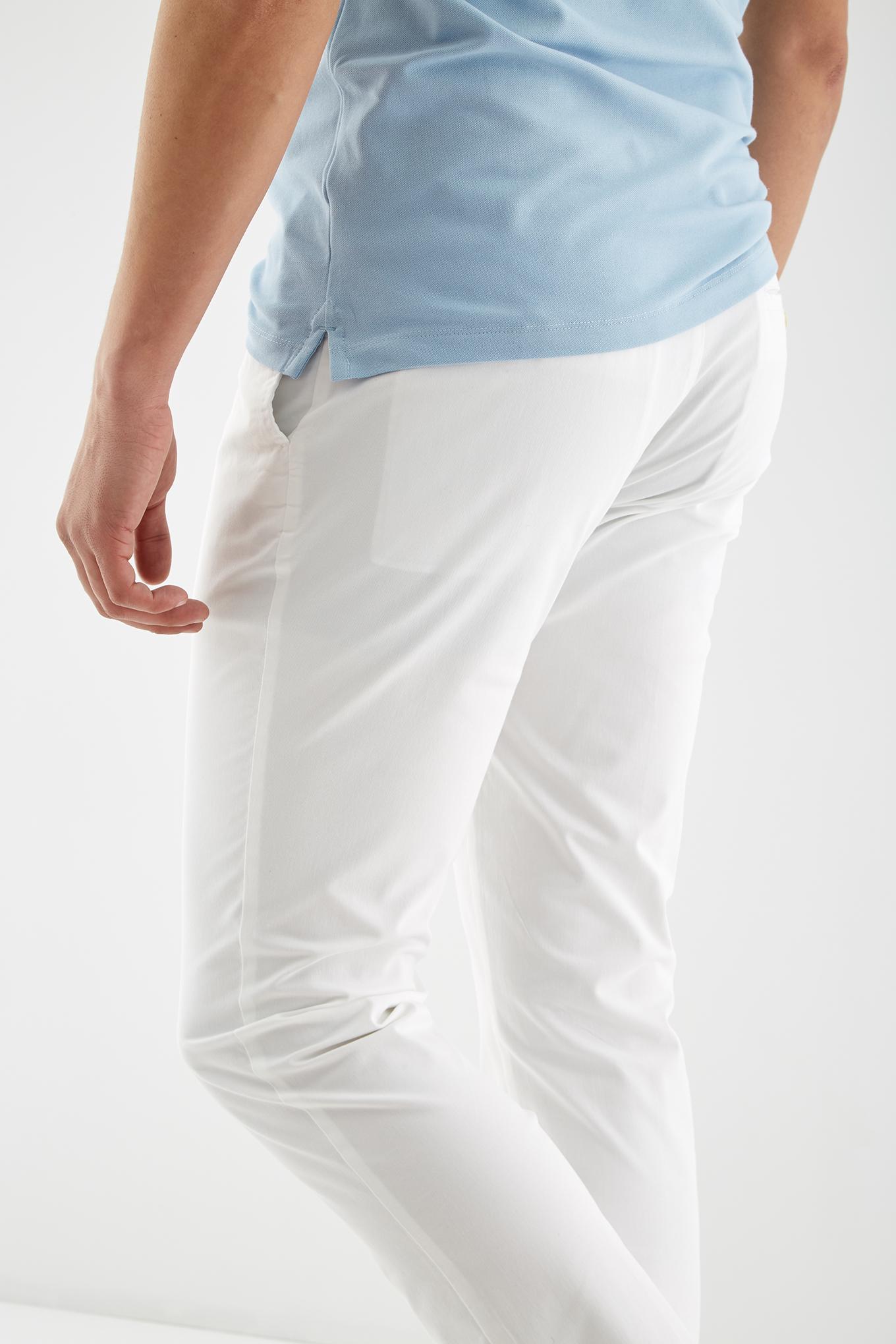 Calças Chino Branco Sport Homem