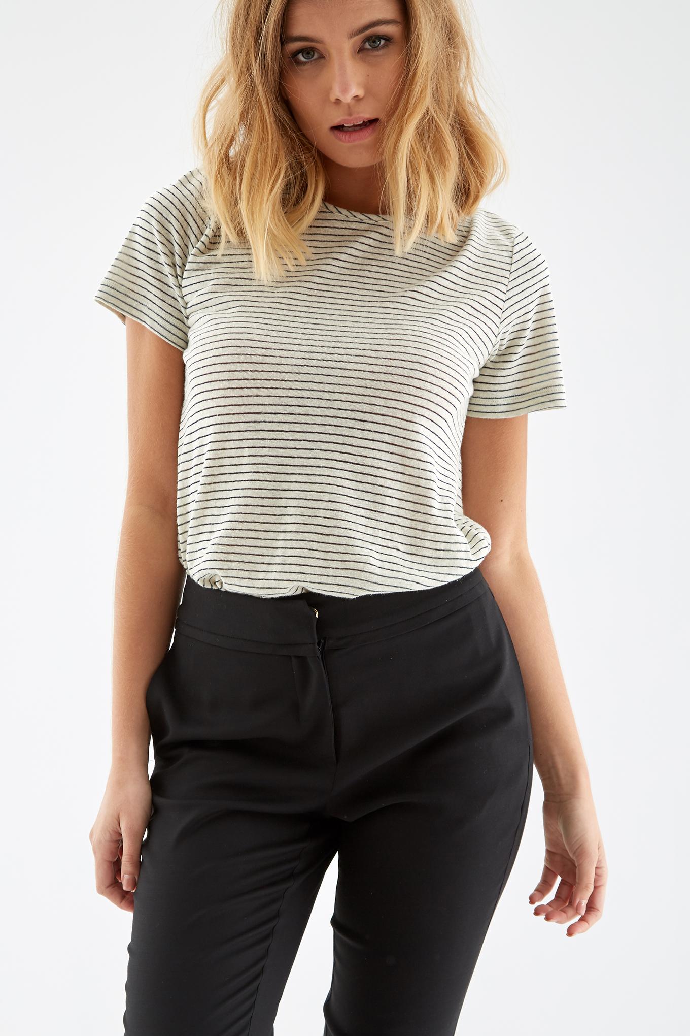 T-Shirt Ecru Casual Woman