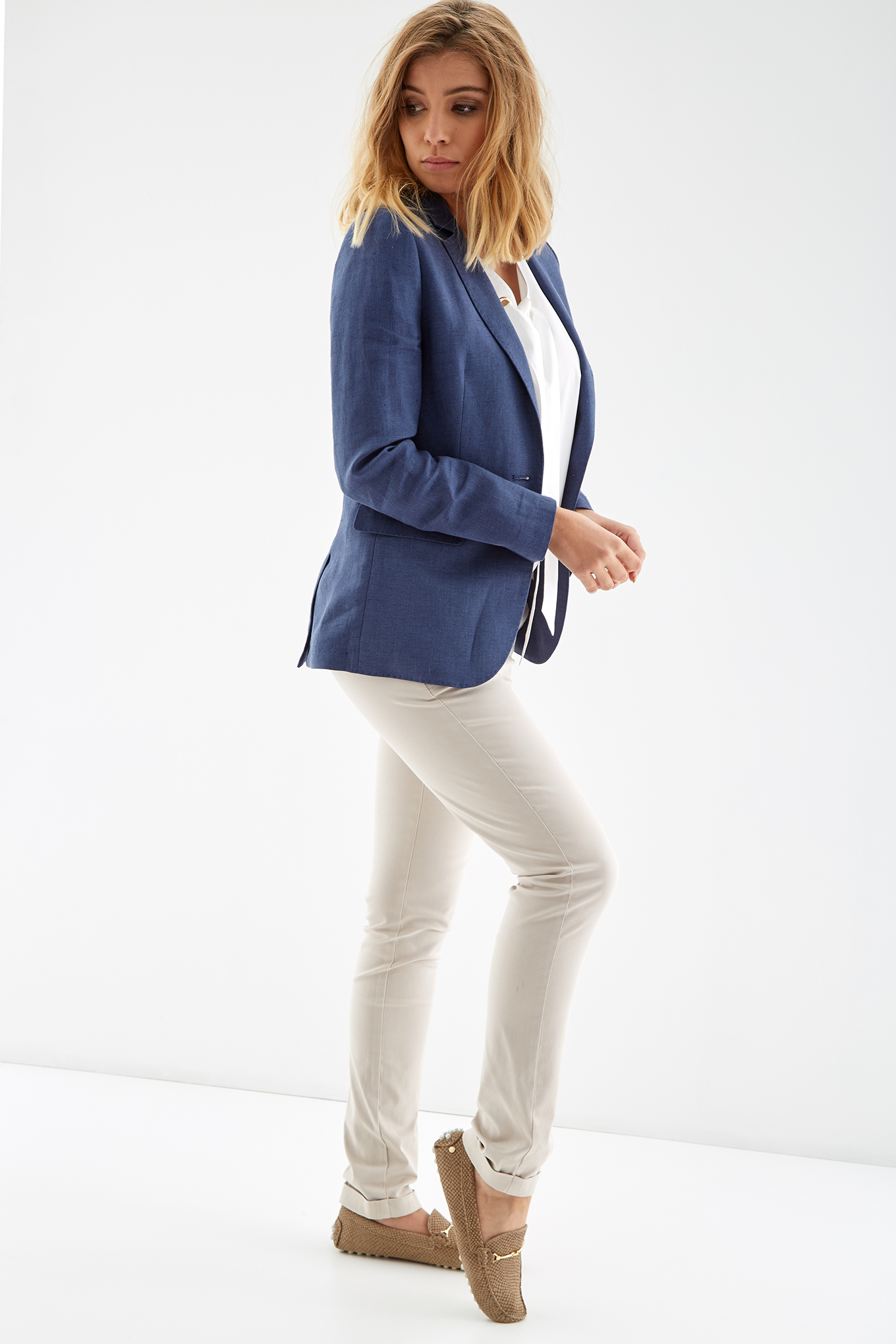 Blazer Blue Classic Woman