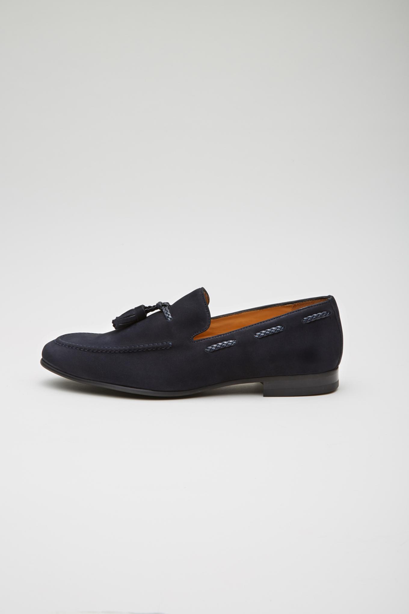 Shoes Dark Blue Casual Man